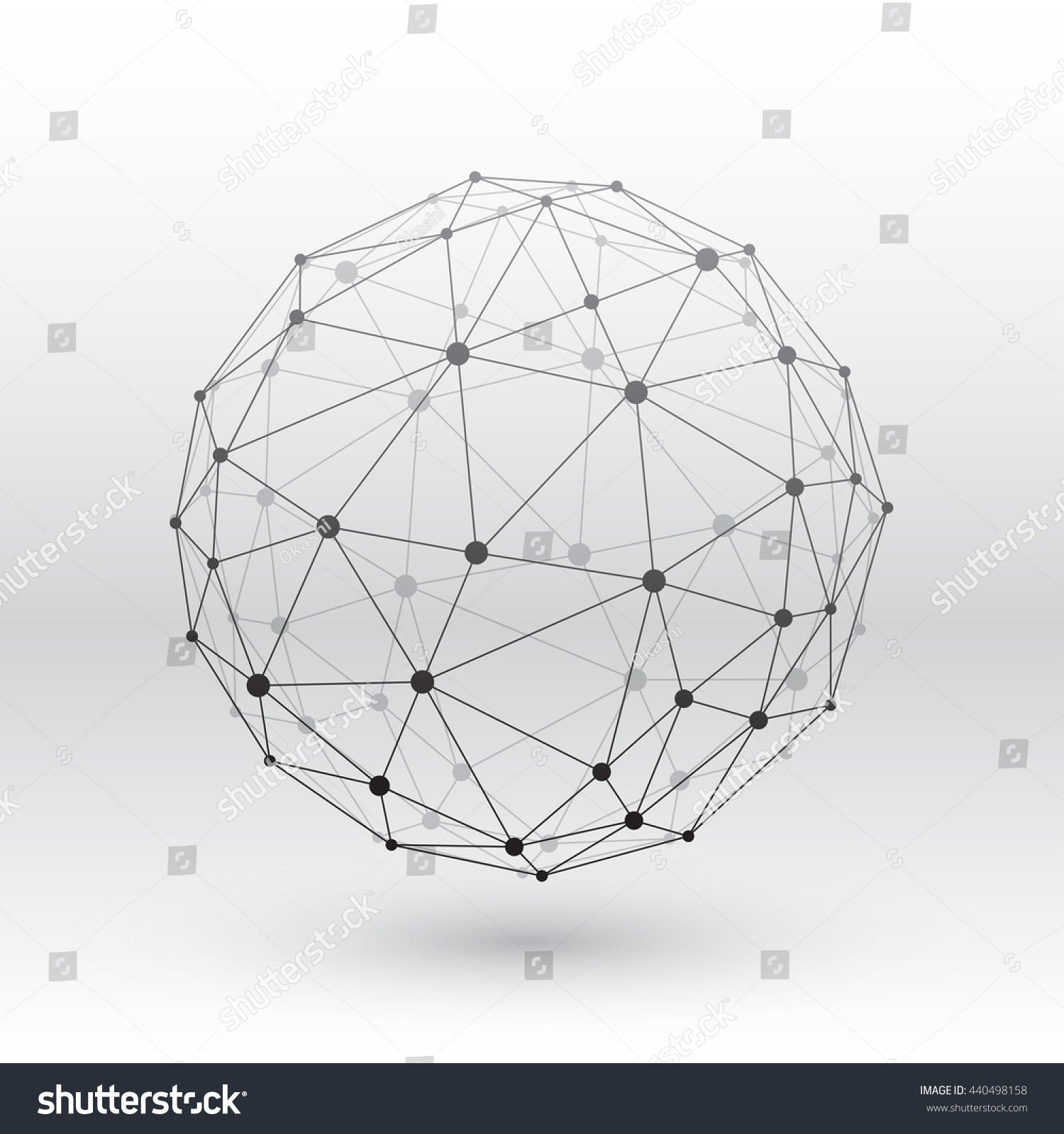 Wireframe globe sphere, connectivity, network tech connection ...