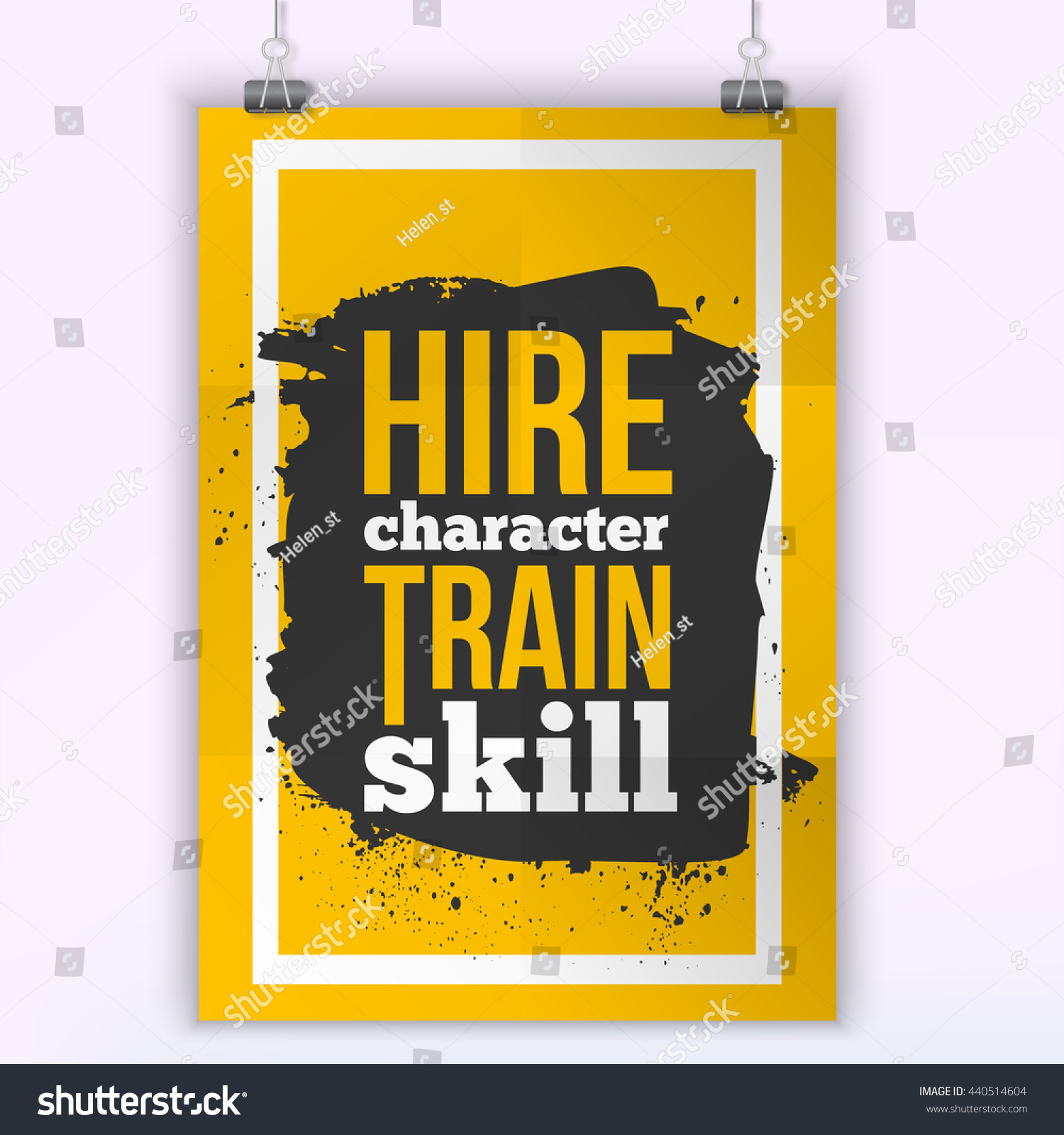 Hire Character Train Skill Quote Wall Stock Vector 440514604 ...