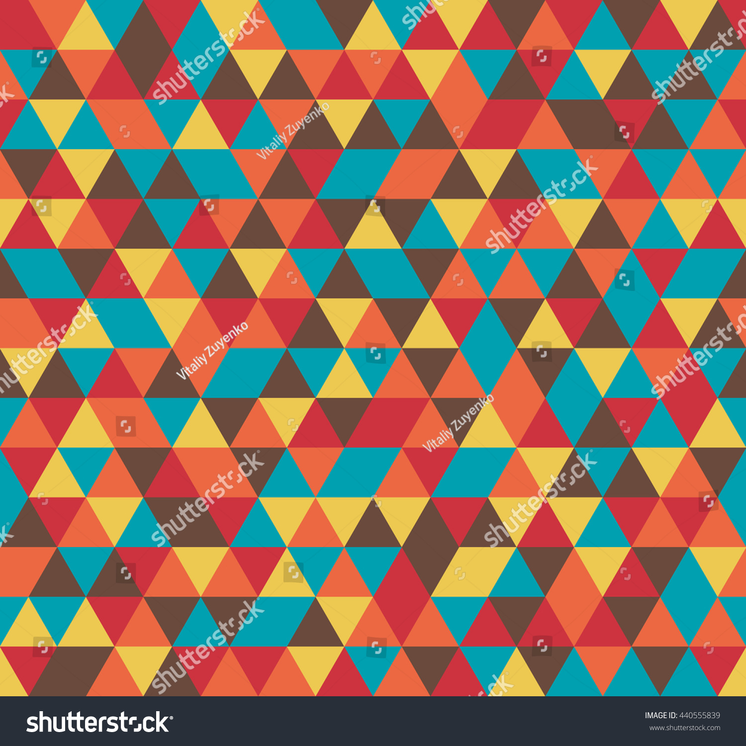 Colorful Tile Vector Background Illustration Triangle Stock Vector ...