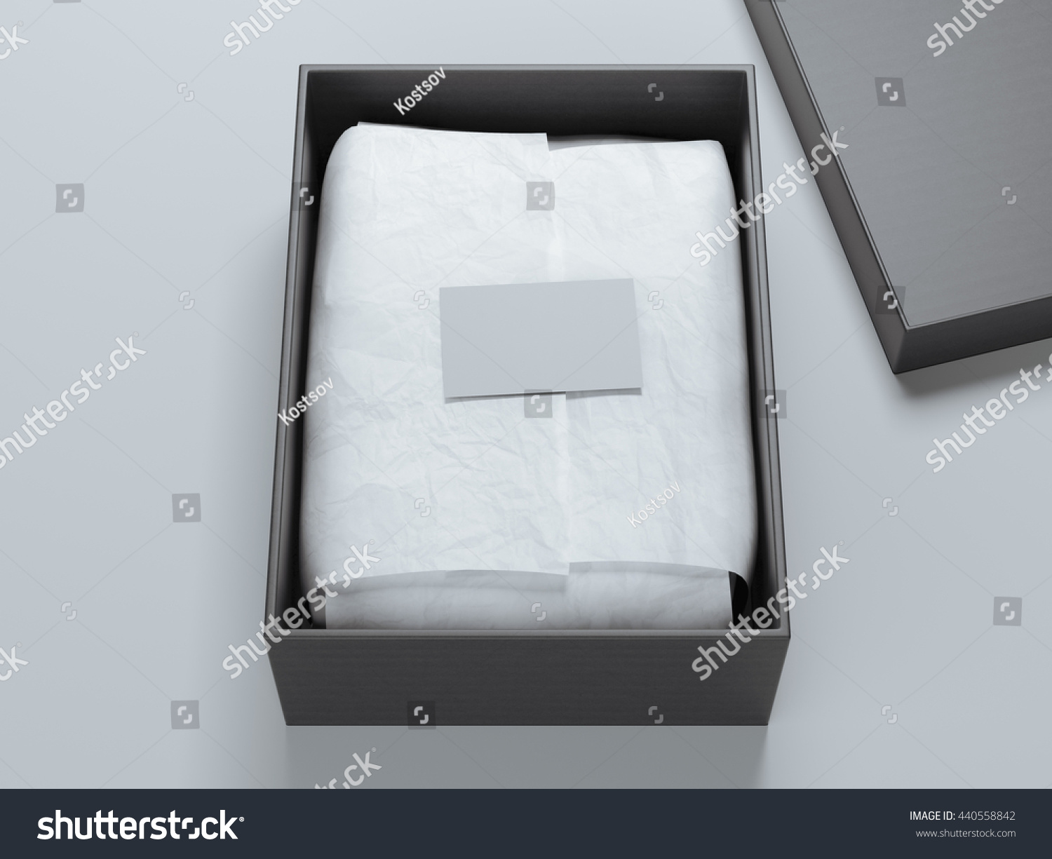 Box Wrapping Paper Blank Business Card Stock Illustration 440558842 ...