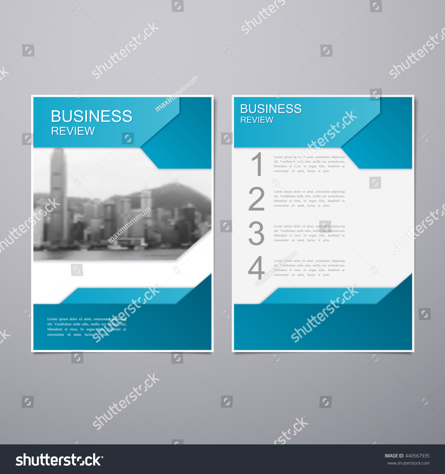 Business Review Leaflet Brochure Flyer A4 Vector 440567935 – Business Review Template