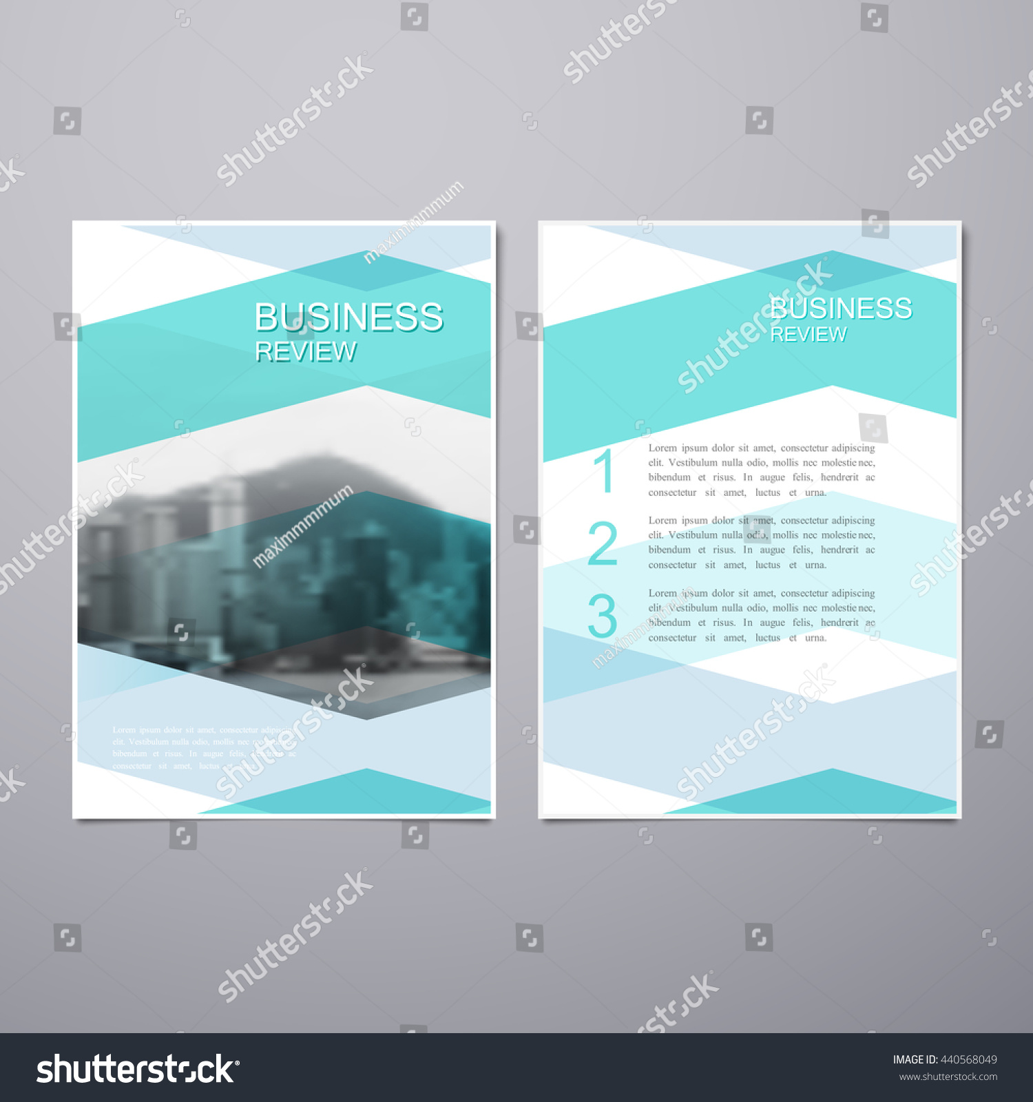 business review leaflet brochure flyer a4 stock vector 440568049, Presentation templates