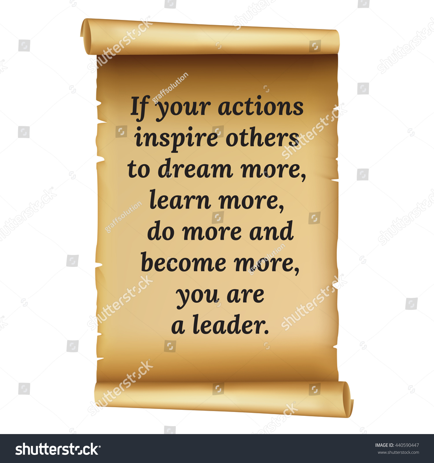 Wise Quote Your Actions Inspire Others Stock Vector (Royalty