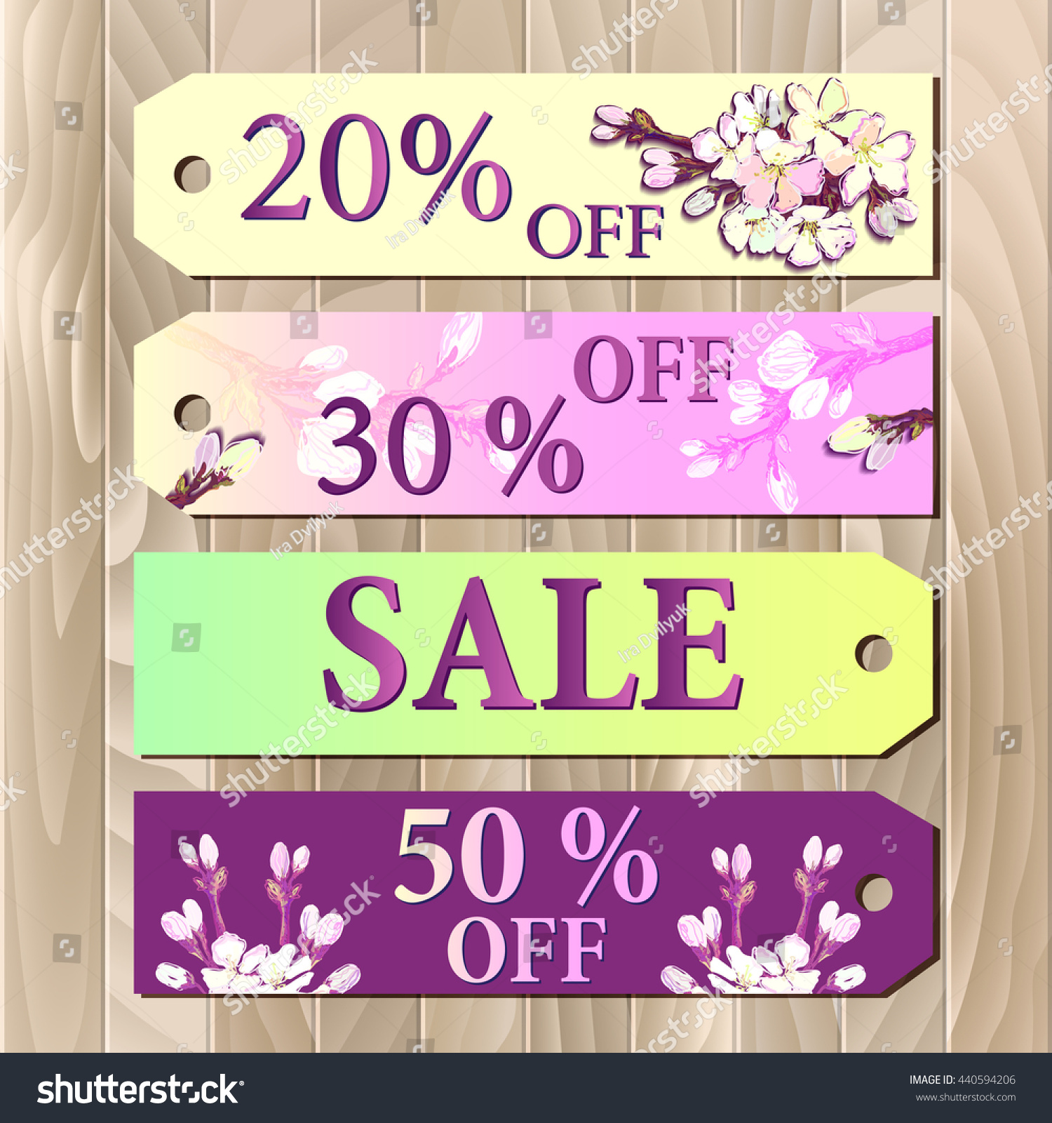 Big Sale Gift Certificate Coupon Template Stock Illustration ...