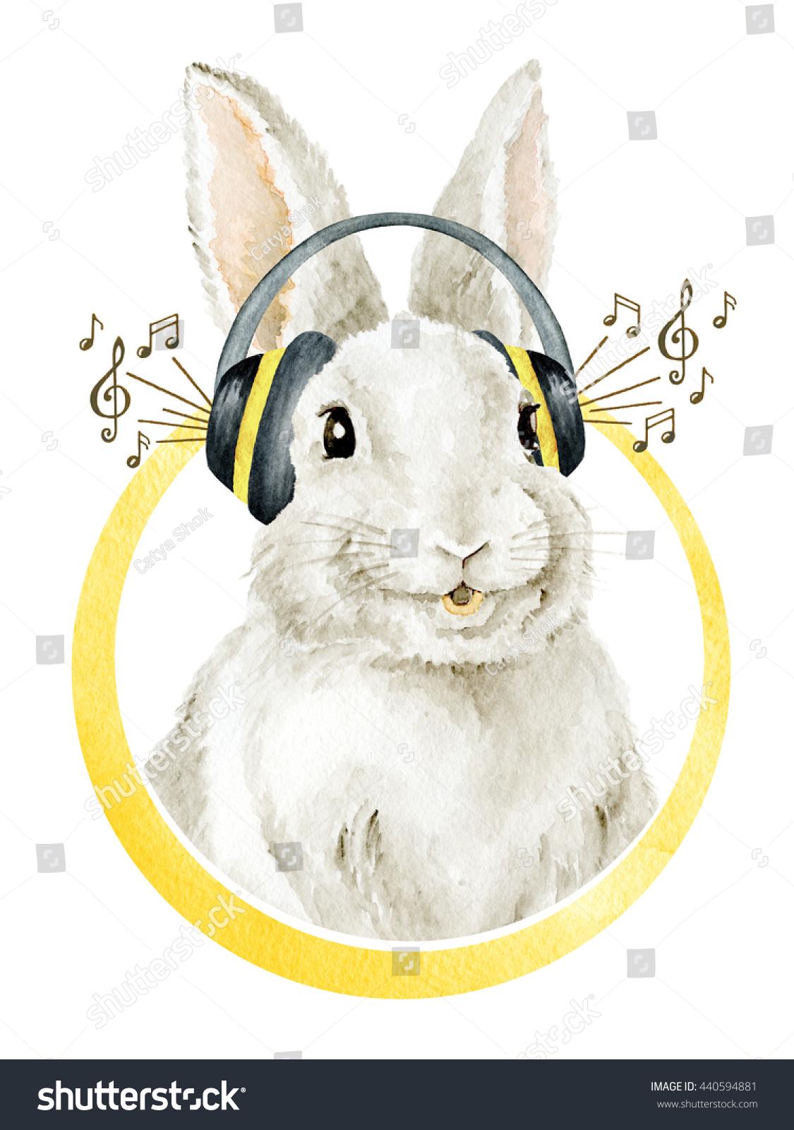 Cool Funny Smiling Bunny Farm Animals Stock Illustration 440594881 ...