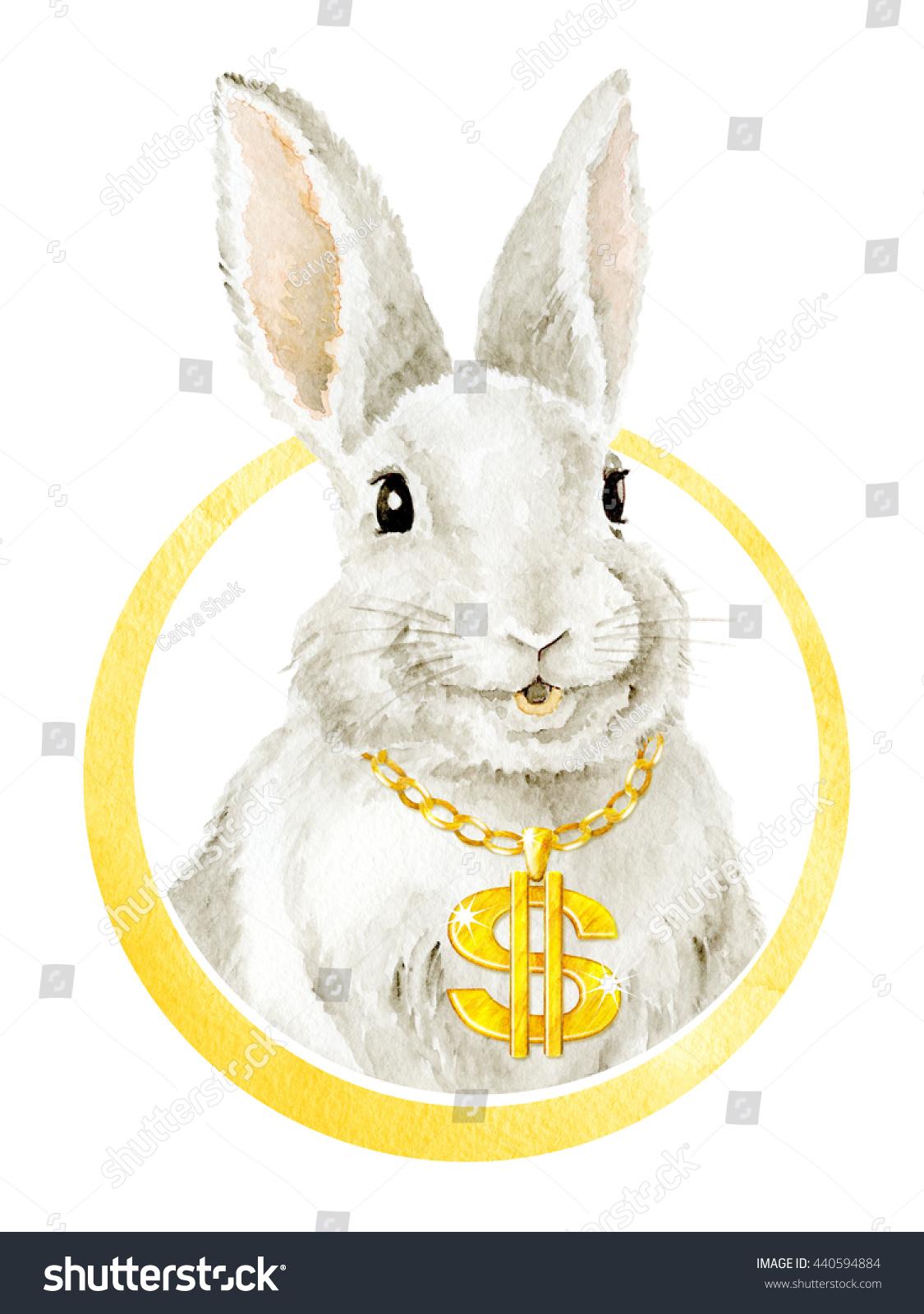 Cool Funny Smiling Bunny Farm Animals Stock Illustration 440594884 ...