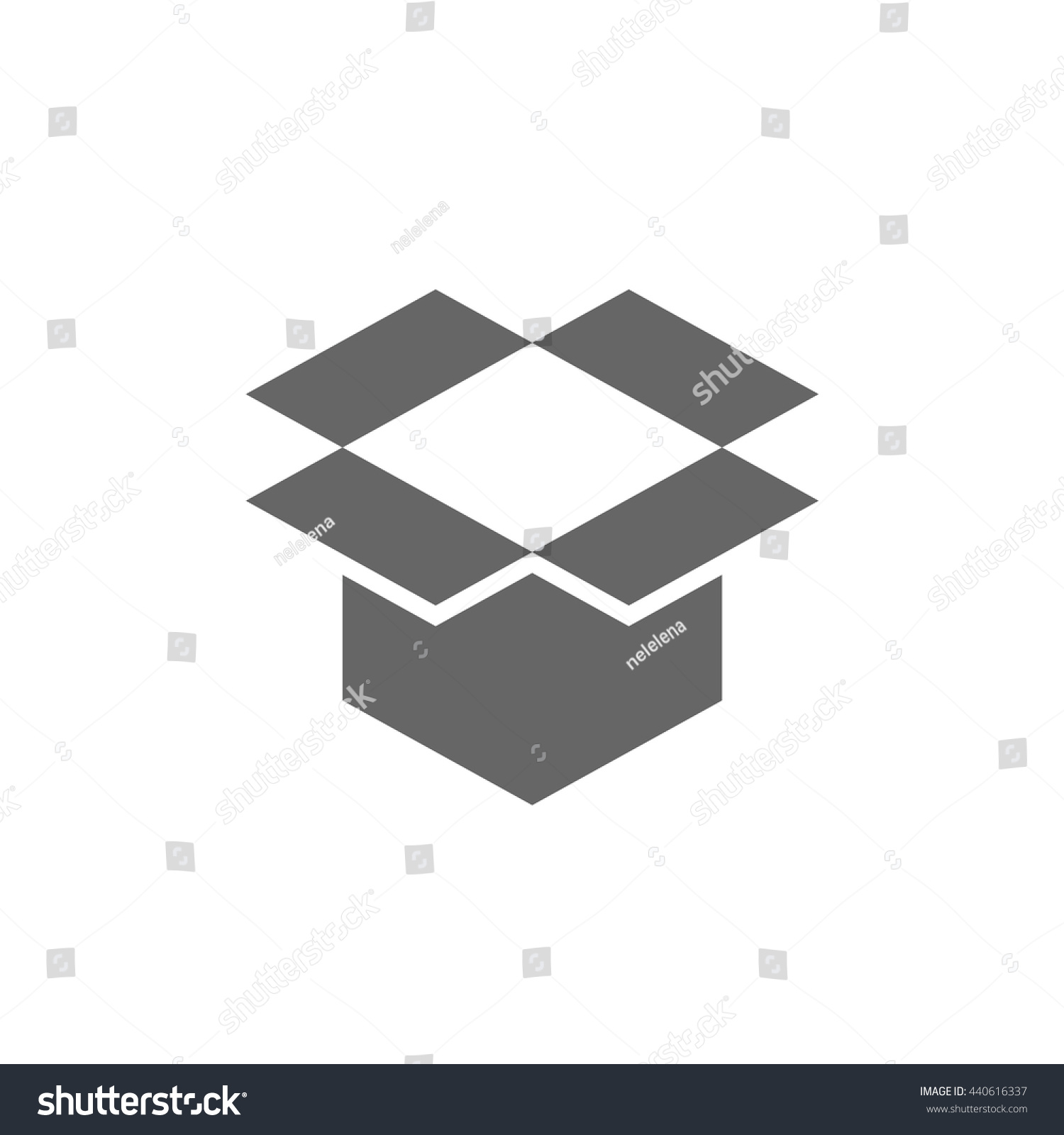 Open box symbol symbol packaging eps stock vector 440616337 open box symbol symbol of packaging eps vector illustration biocorpaavc Choice Image