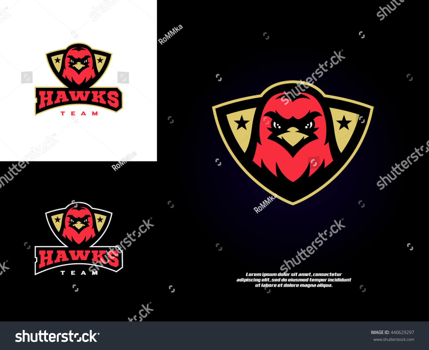 Original professional sports logo with a hawk eagle falcon