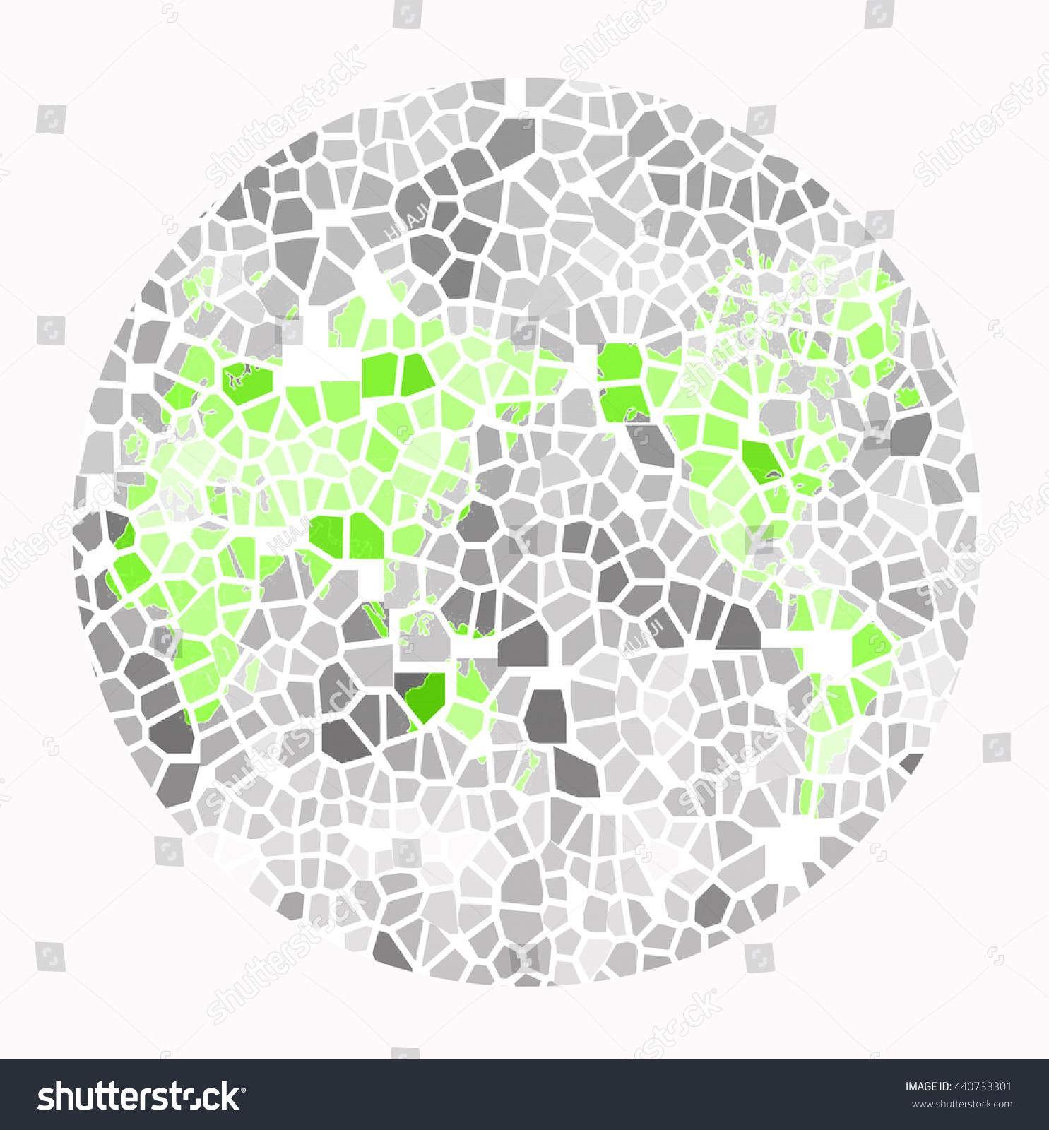 Color Blind Test The World Map Stock Illustration 440733301 ...
