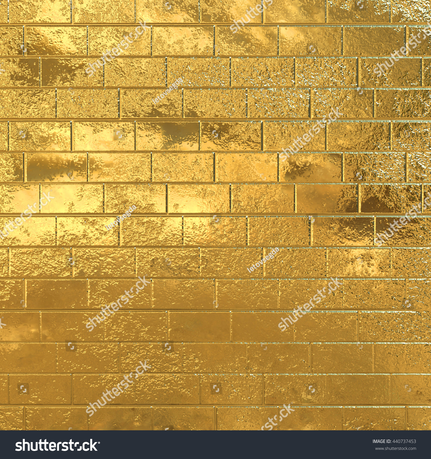 Golden Brick Wall Gold Background Stock Illustration 440737453 ...