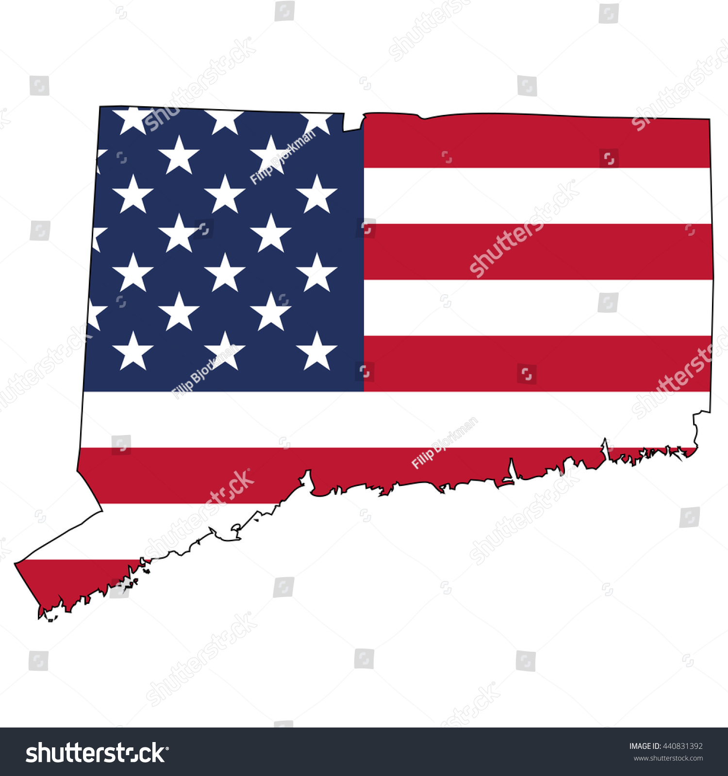 Usa Map With Flag Royalty Free Stock Photography Image - Us map with glag