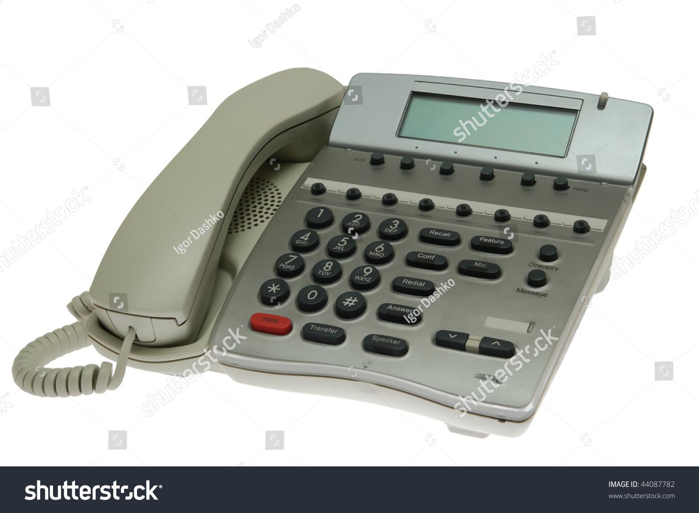 Modern Office Phone Isolated On White Stock Photo 44087782 ... | 1500 x 1101 jpeg 302kB