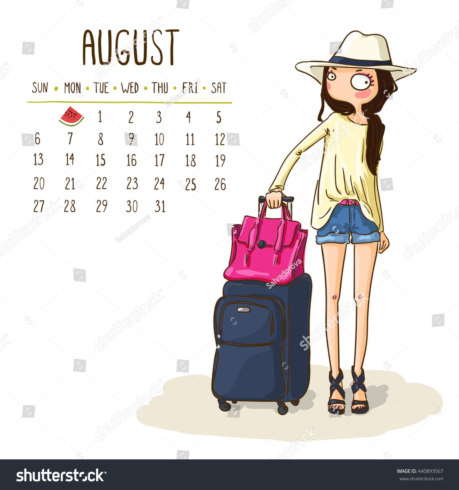 October 2017 calendar cute