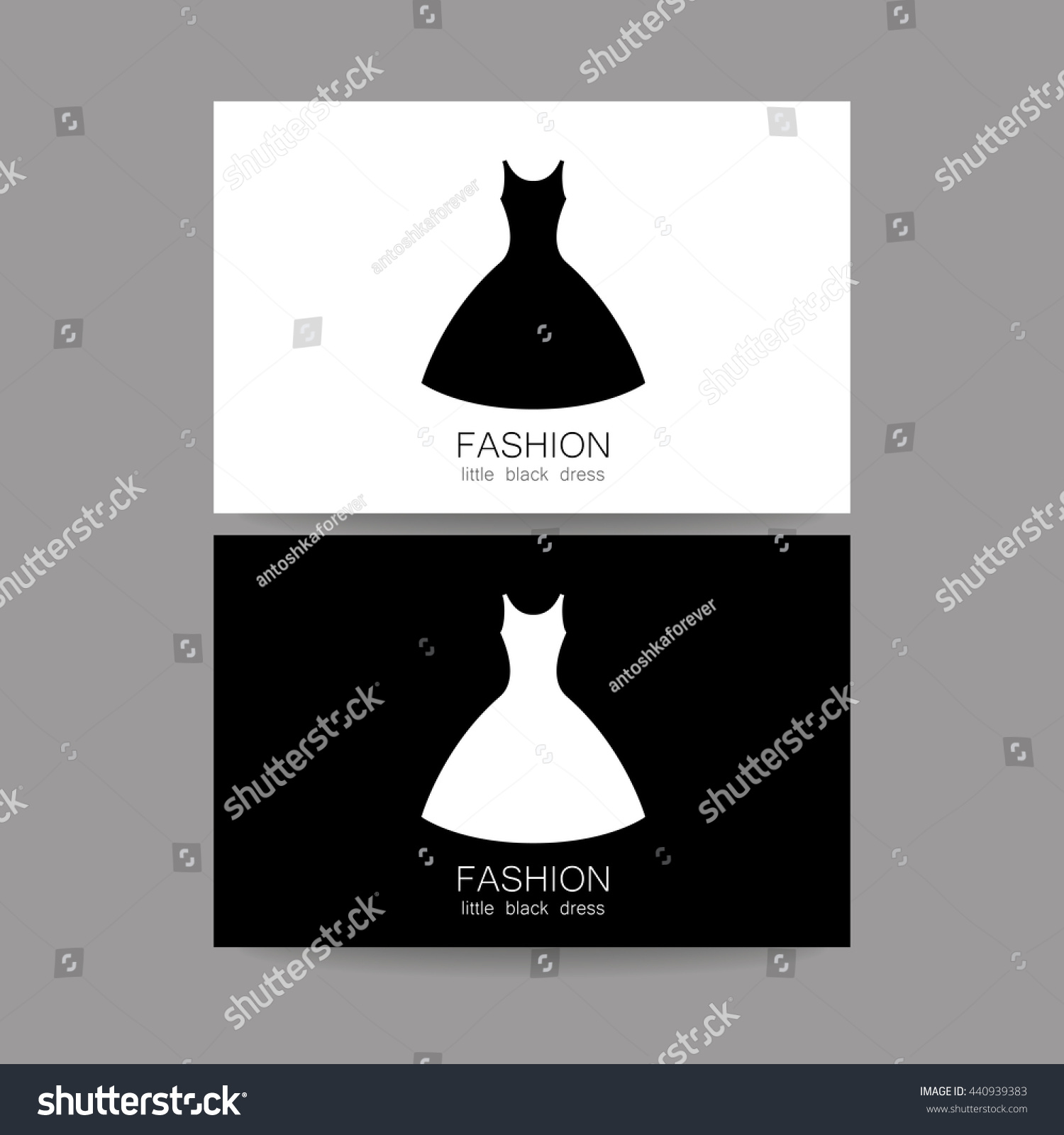 Fashion logo template concept business card stock vector 440939383 fashion logo template concept business card design for fashion shop boutique factory on magicingreecefo Images