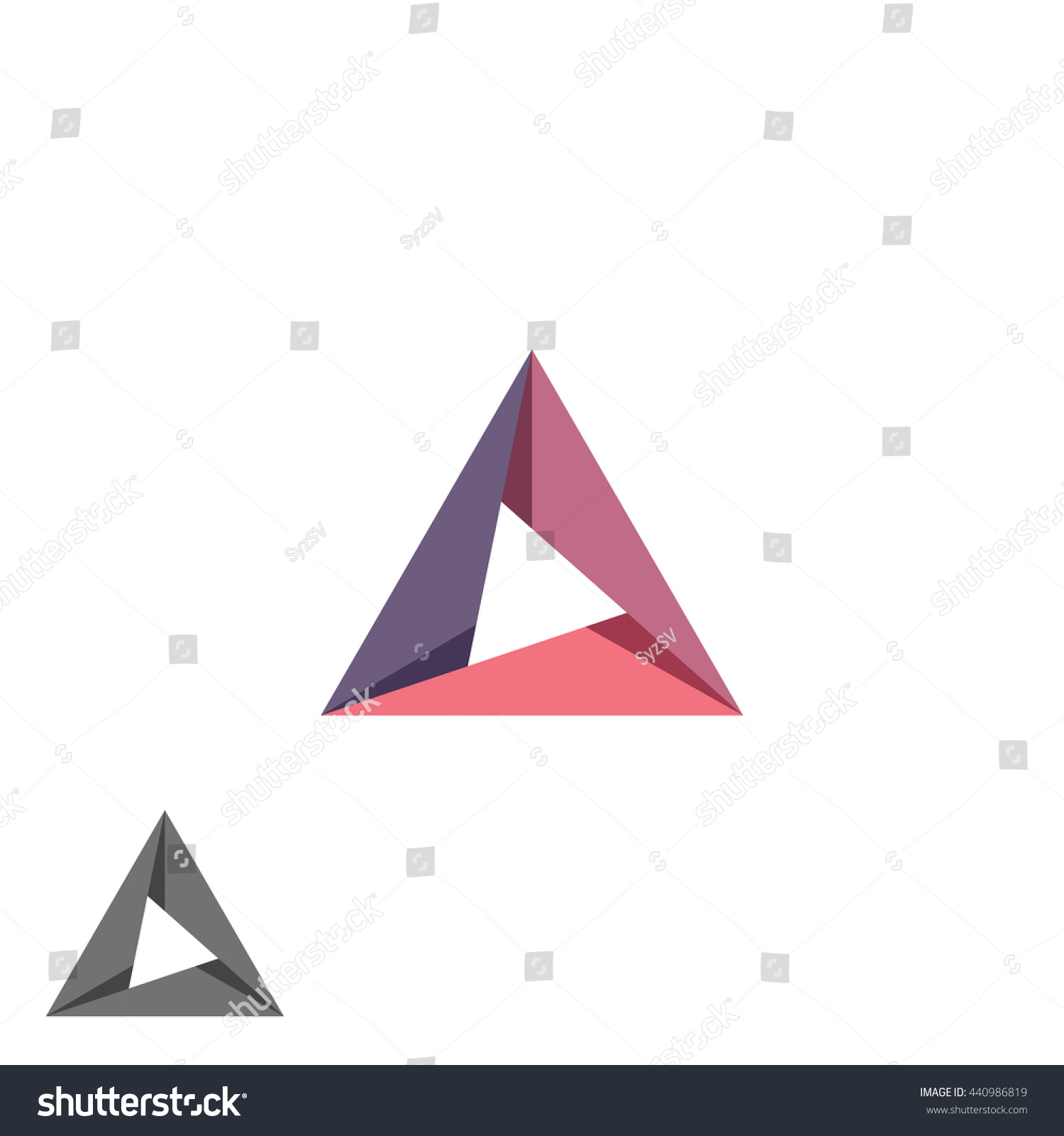 Triangle logo mockup tech shape geometric stock vector 440986819 triangle logo mockup tech shape geometric simple symbol creative converge cycle idea business card emblem magicingreecefo Choice Image