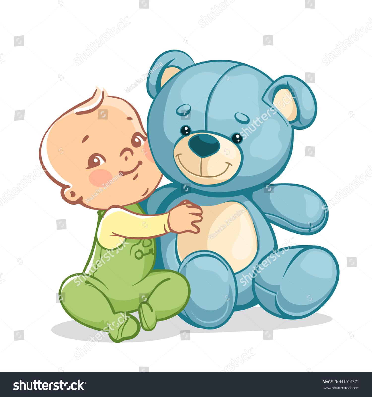 Little Baby Boy Big Toy e Stock Vector Shutterstock
