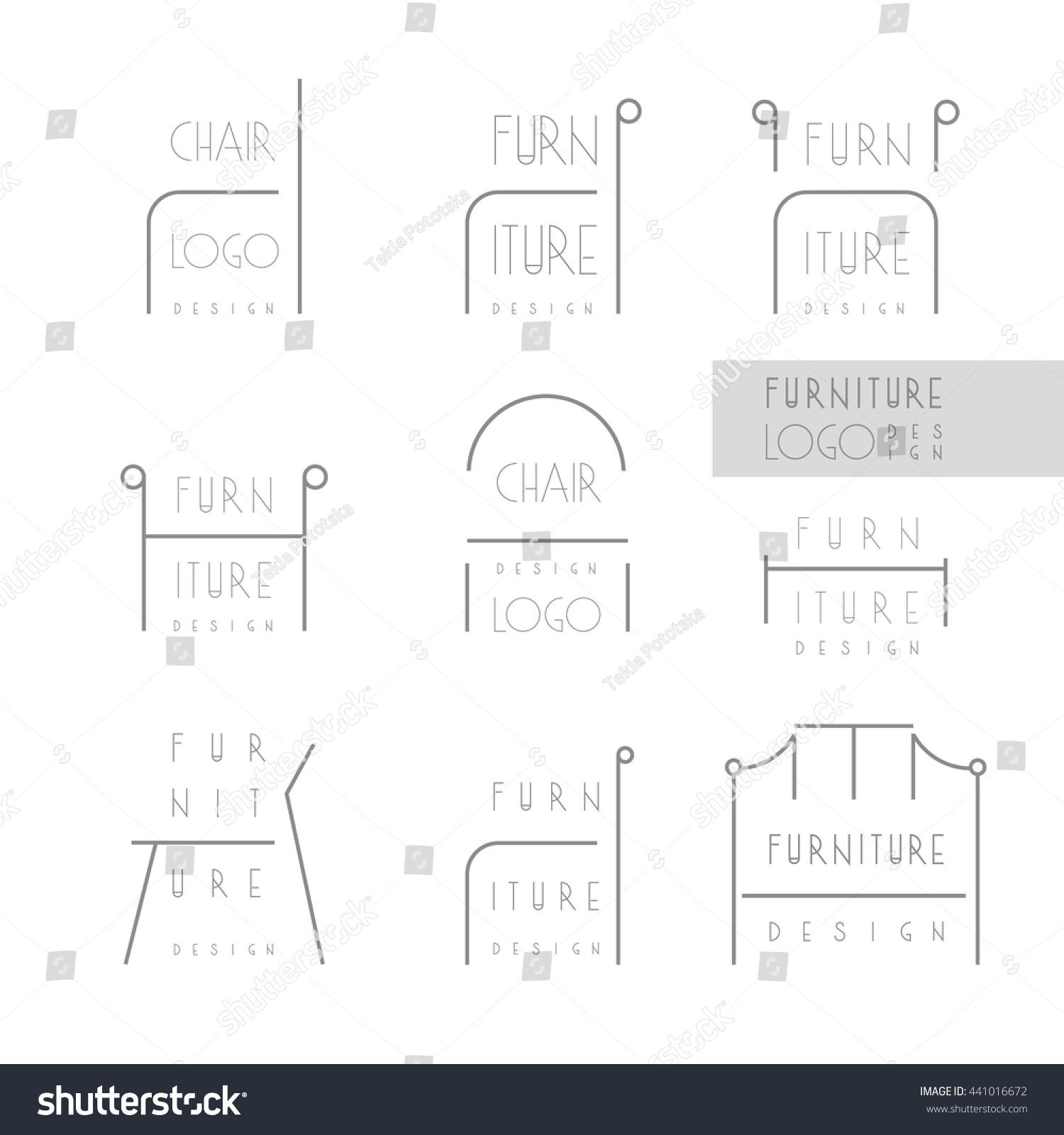 Interior Designer Brand Identity Furniture Design Stock