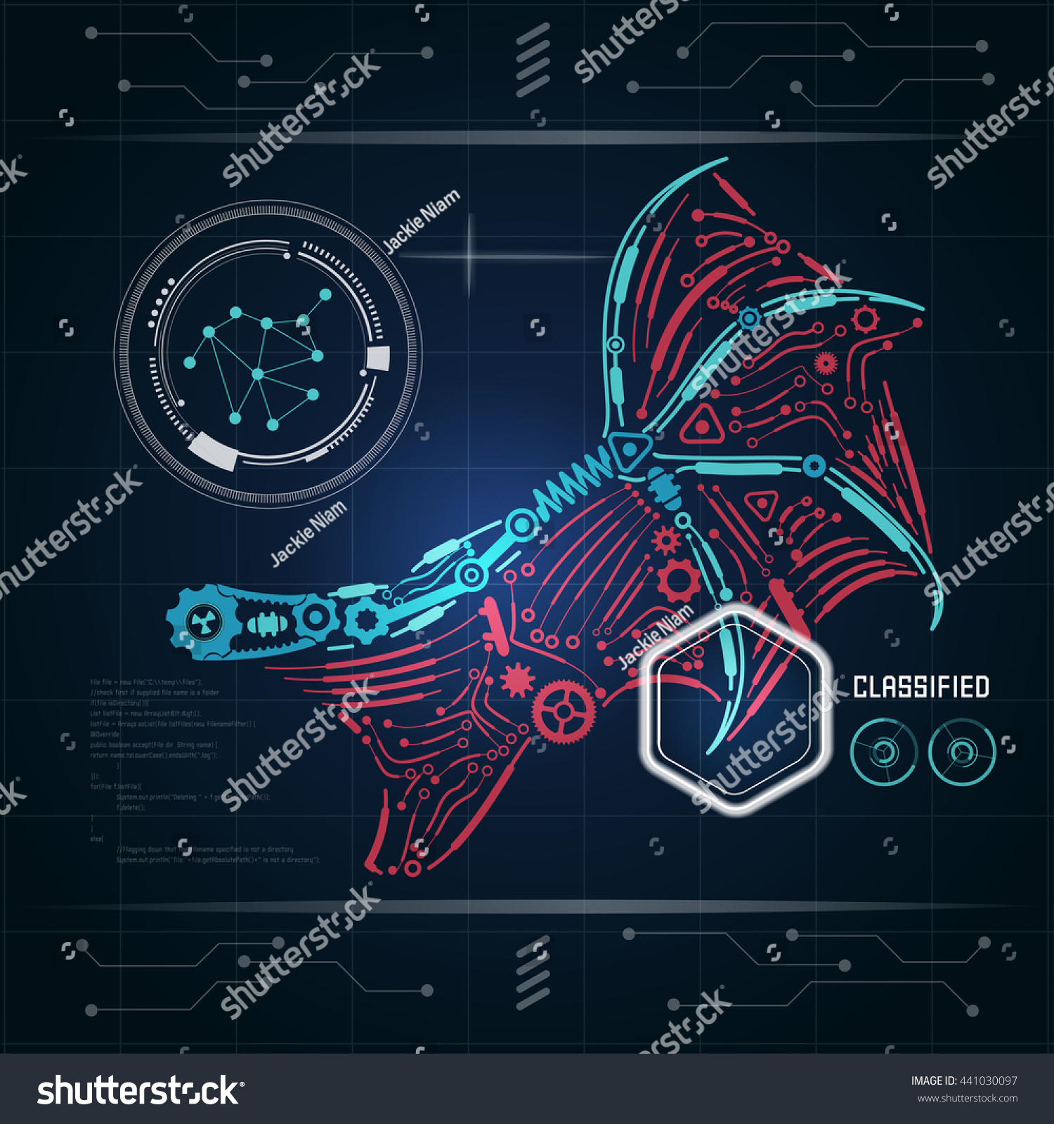 Graphic interface ai invention diagram robot stock vector graphic of interface of ai invention diagram of robot wing with technology theme blueprint malvernweather Images