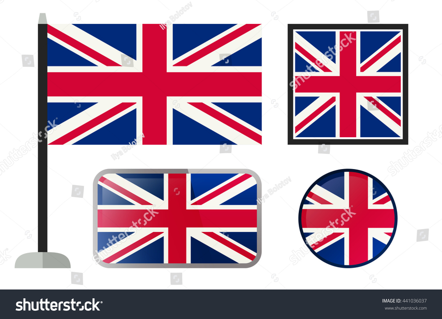 british flags simple vector icons set stock vector 441036037