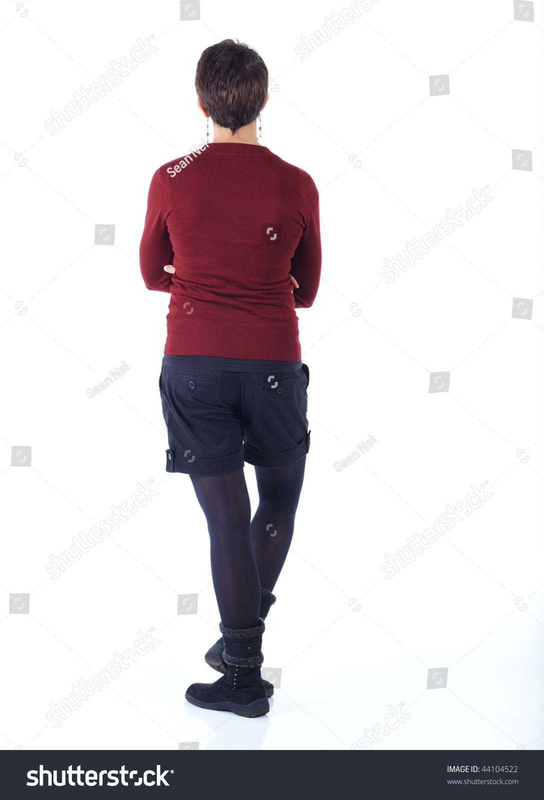 Cute Young Adult Caucasian Woman Short Royalty Free Stock Image