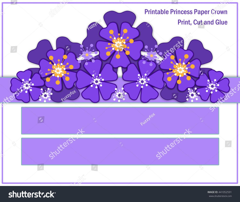Blue Purple Flower Crown Girls Stock Illustration 441052591
