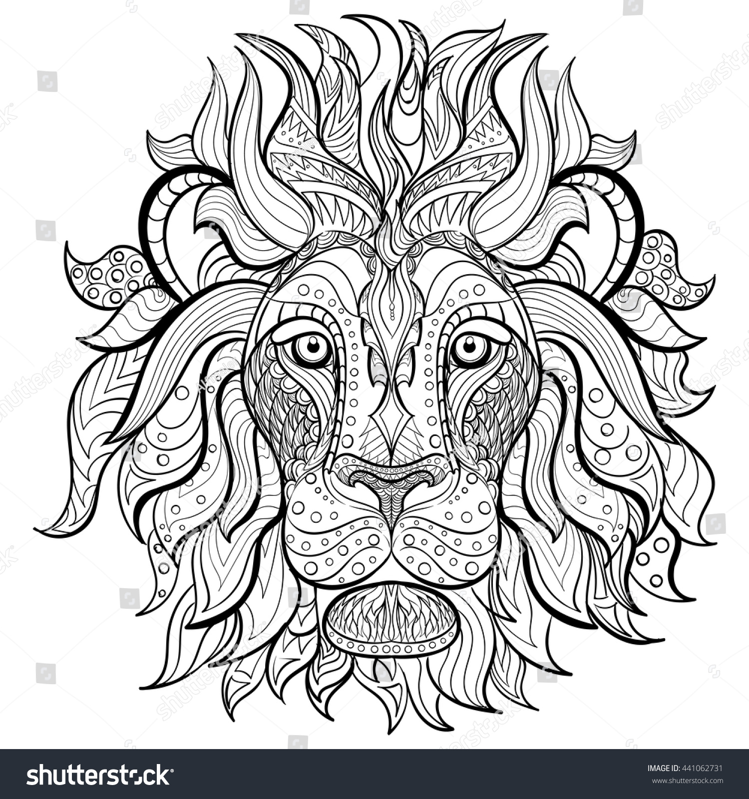 Coloring book for adults lion - Coloring Book For Adult Lion Zentagle