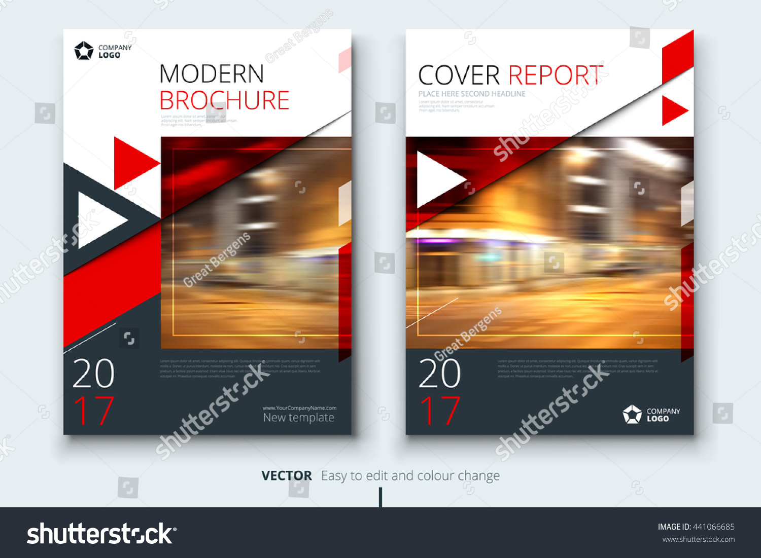 red brochure template - red brochure design corporate business template stock