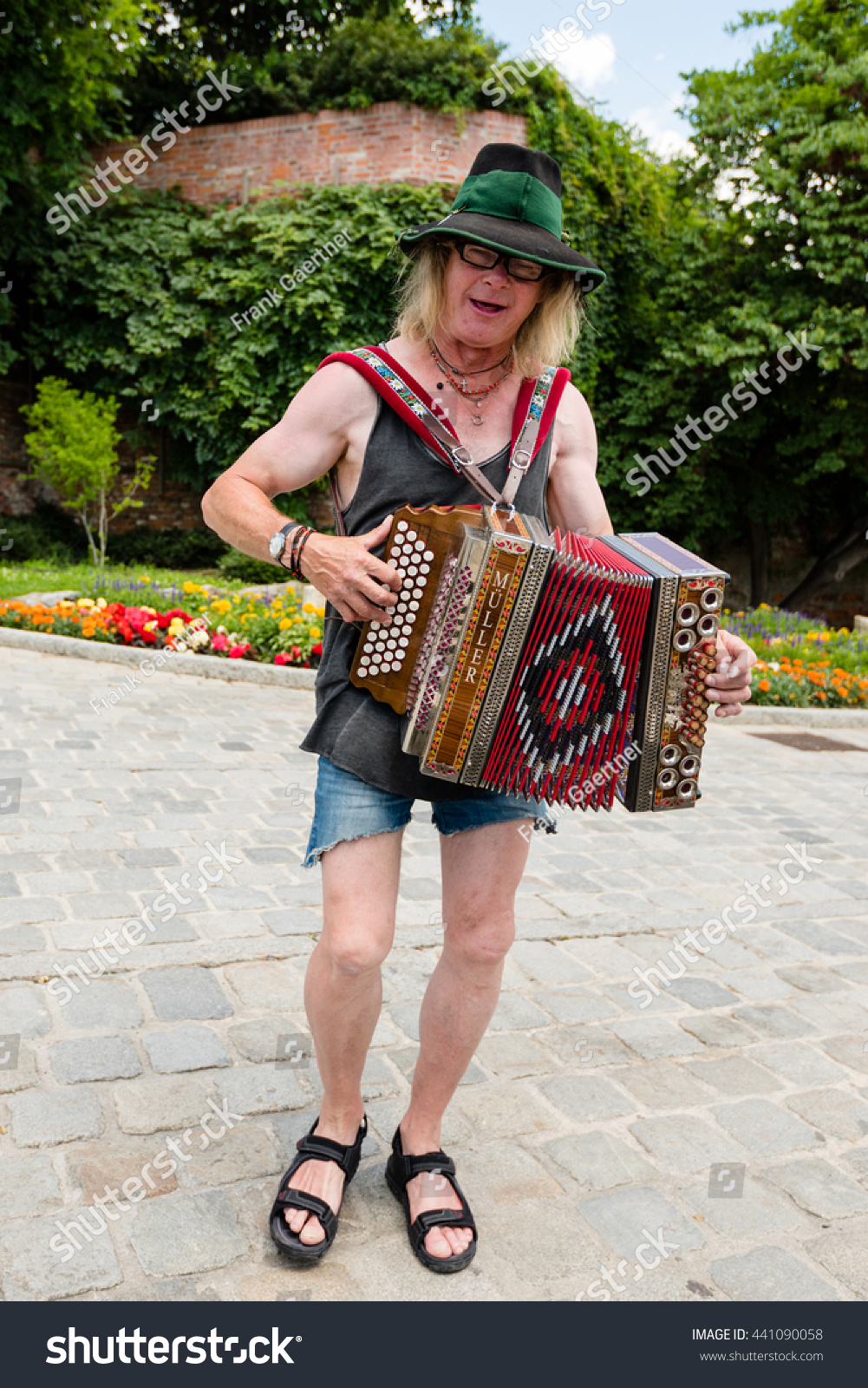 graz austria june 18 2016 a traditional austrian accordion player is performing - Traditional Castle 2016