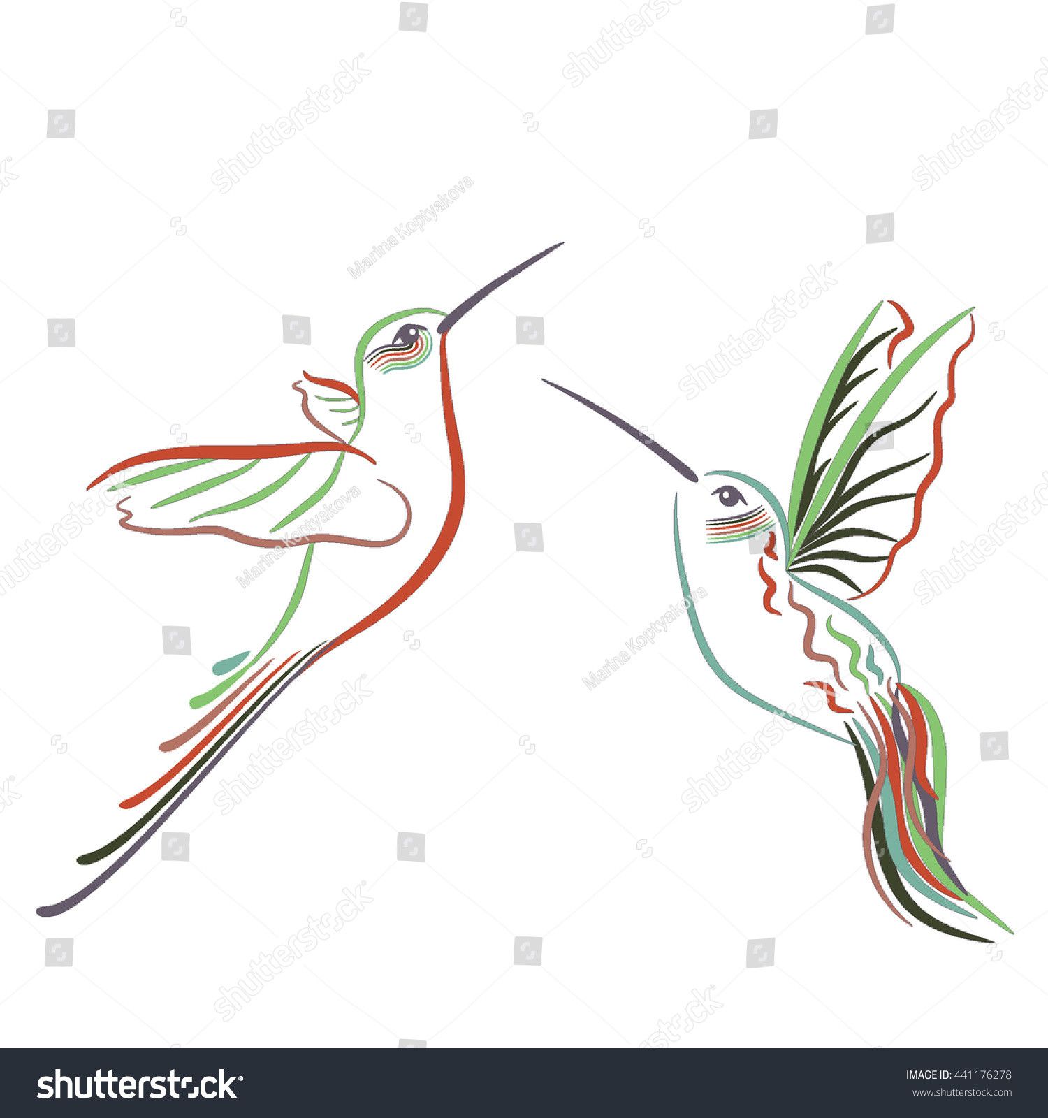 Colored hummingbird symbols logo stock vector 441176278 shutterstock colored hummingbird symbols logo biocorpaavc Images