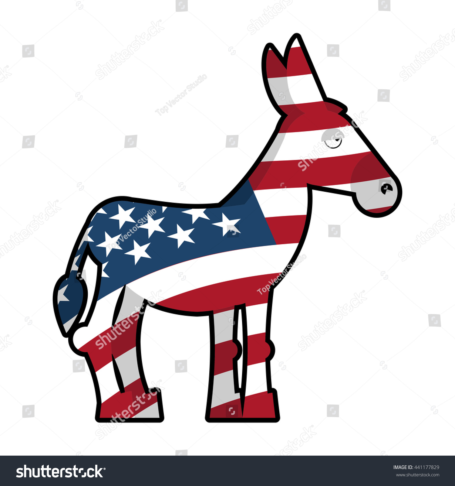 Donkey democrat symbol political party america stock illustration donkey democrat symbol of political party in america usa flag texture biocorpaavc Image collections