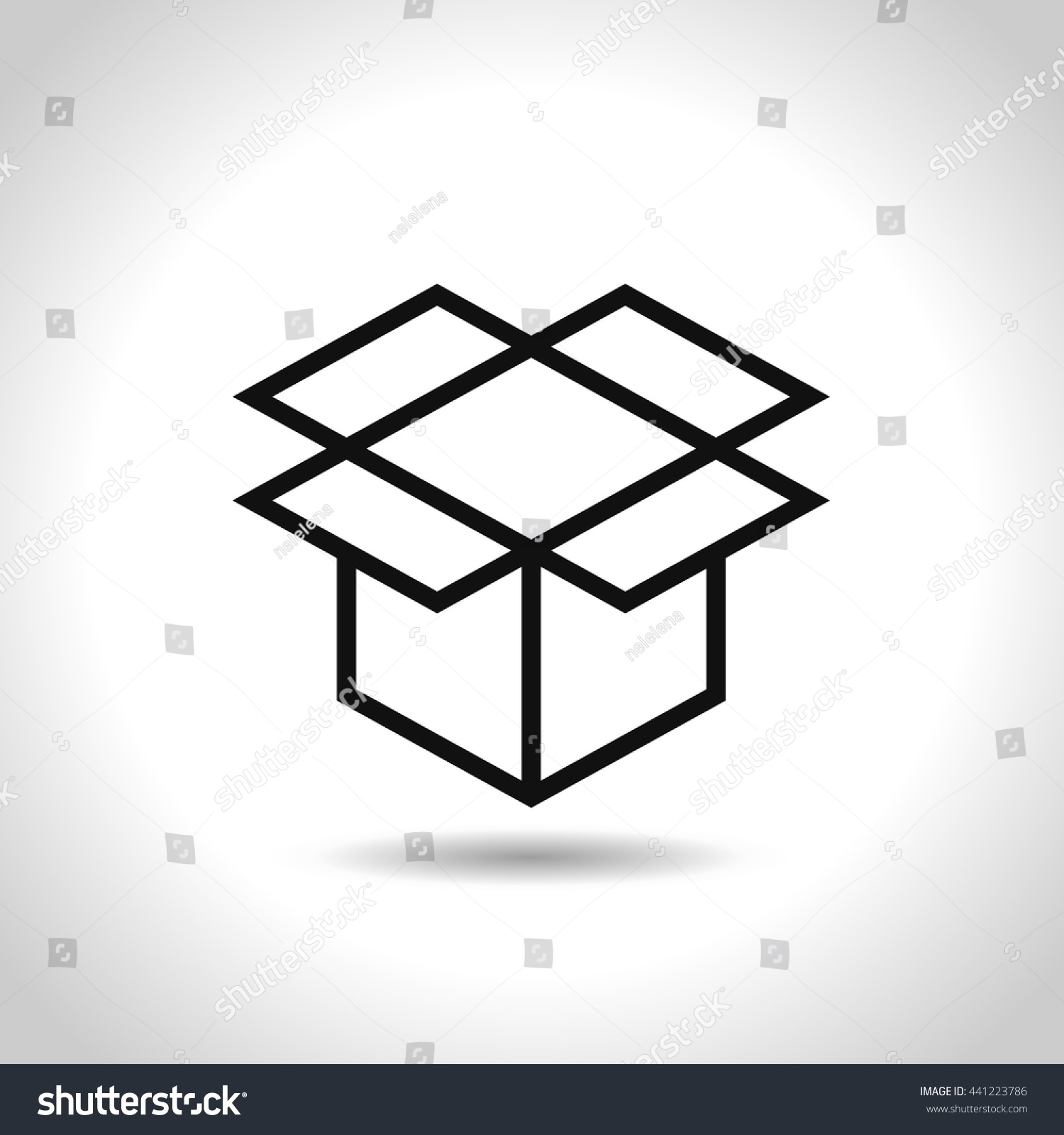 Open box symbol symbol packaging eps stock vector 441223786 open box symbol symbol of packaging eps vector illustration biocorpaavc Choice Image