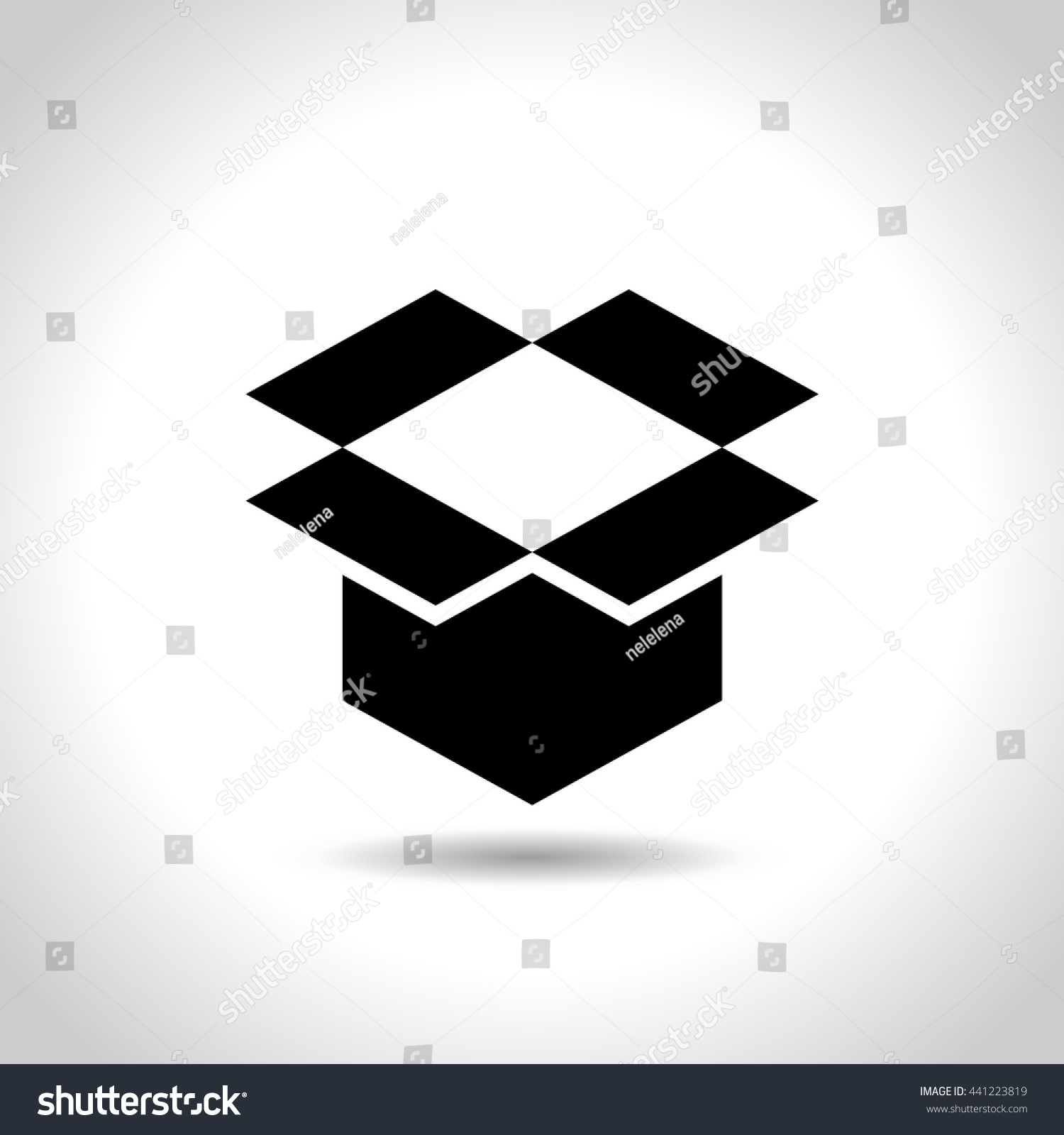 Open Box Symbol Symbol Packaging Eps Stock Vector Royalty Free