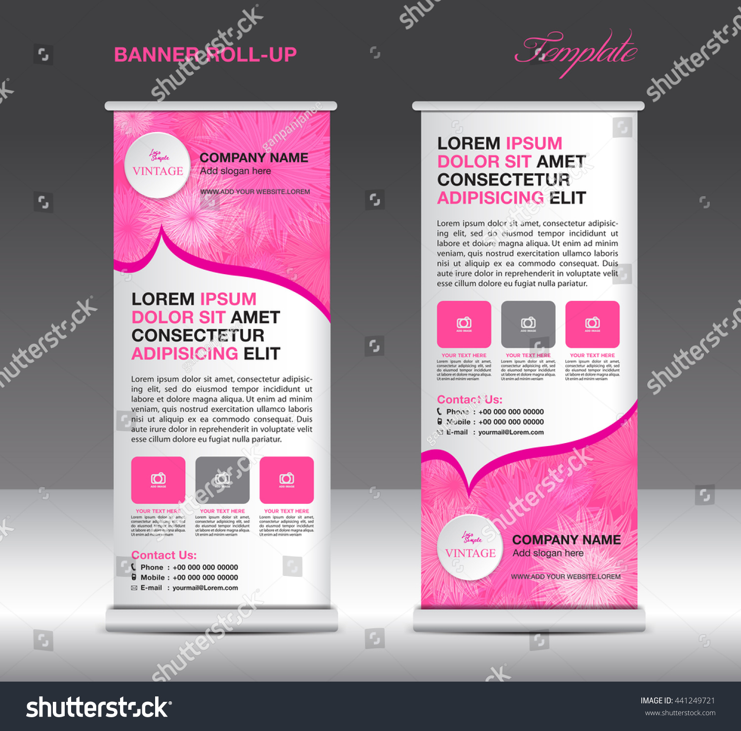 pink roll up banner stand template flower vintage flyer design for pink roll up banner stand template flower vintage flyer design for business advertisement display