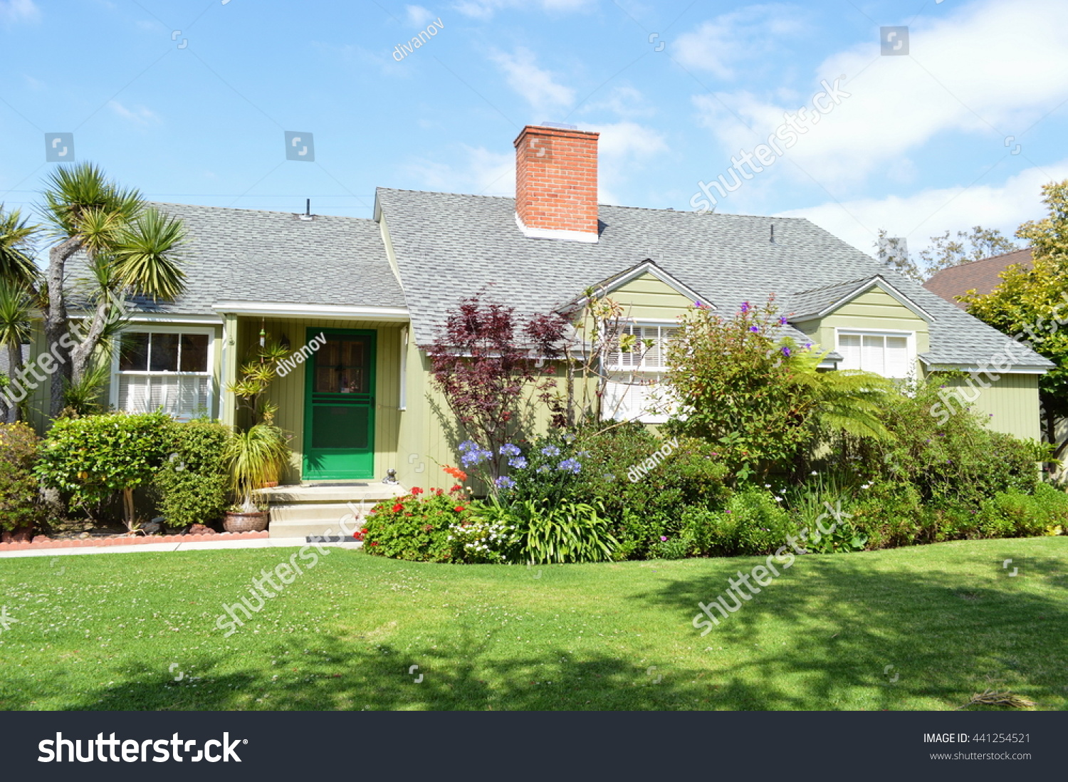 Landscaped Homes beautiful homes estates nicely landscaped front stock photo