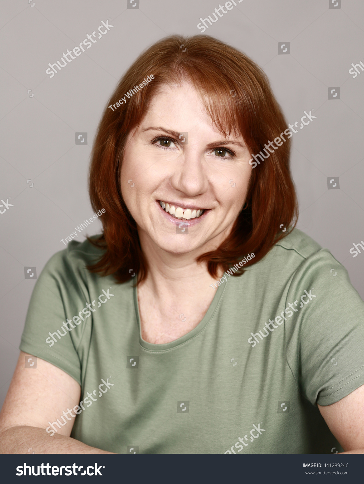 Mature Real Woman Red Hair Stock Photo 441289246 - Shutterstock-2622