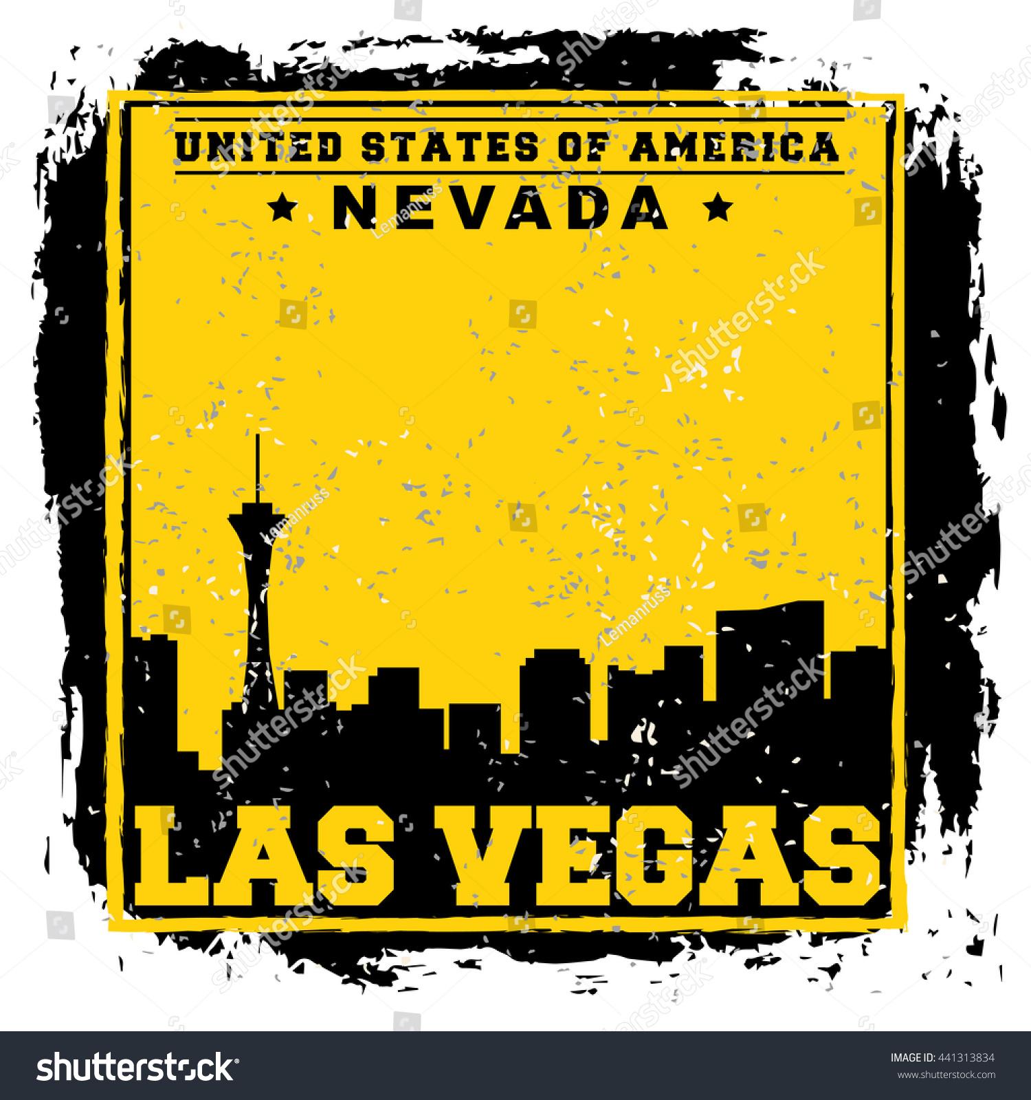 T shirt poster design - Las Vegas City Concept Logo Label T Shirt Design Lv