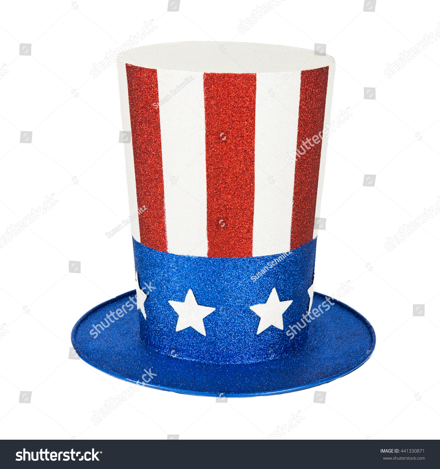 Tall American Flag Design Hat Isolated Stock Photo (Edit Now ... 9b6e16f74d03