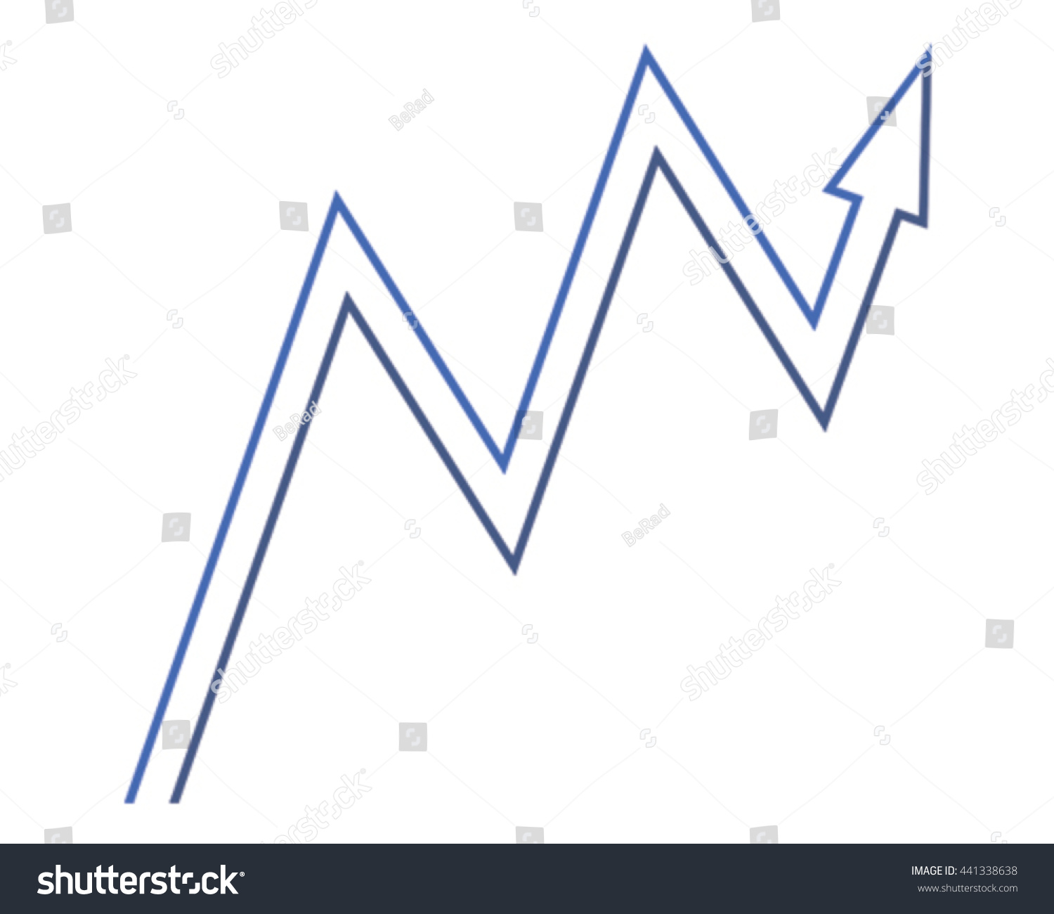 Vector illustration arrow making letter m stock vector 441338638 making the letter m and showing business growth spiritdancerdesigns Image collections
