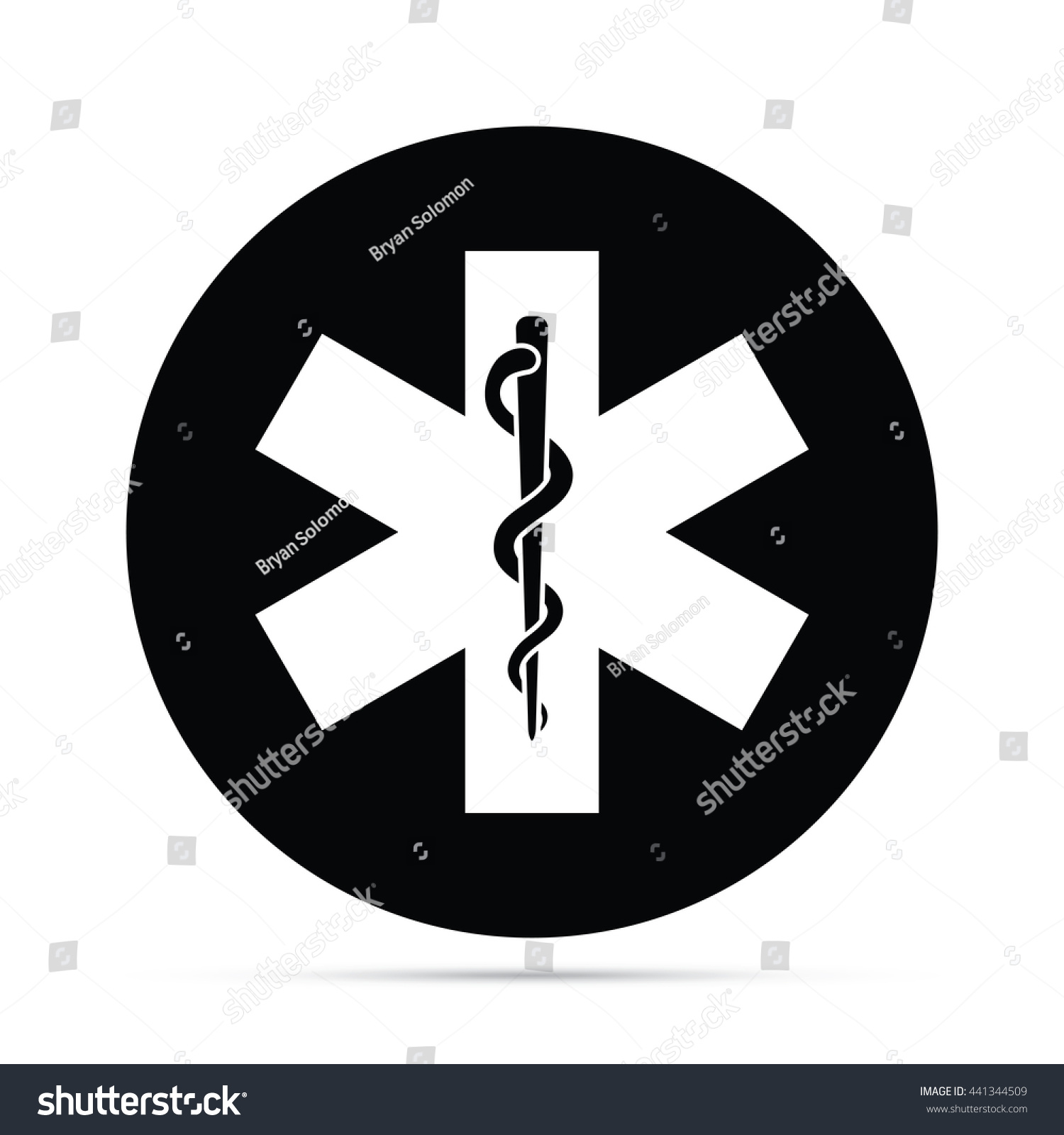 Circular snake staff medical symbol icon stock illustration circular snake staff medical symbol icon raster version buycottarizona Image collections