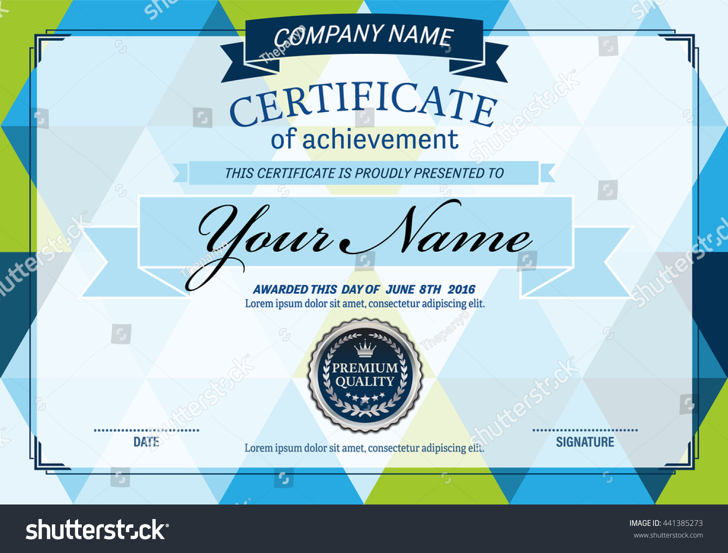 Blue geometric pattern certificate diploma template stock vector blue geometric pattern certificate diploma template vector illustration yadclub Image collections