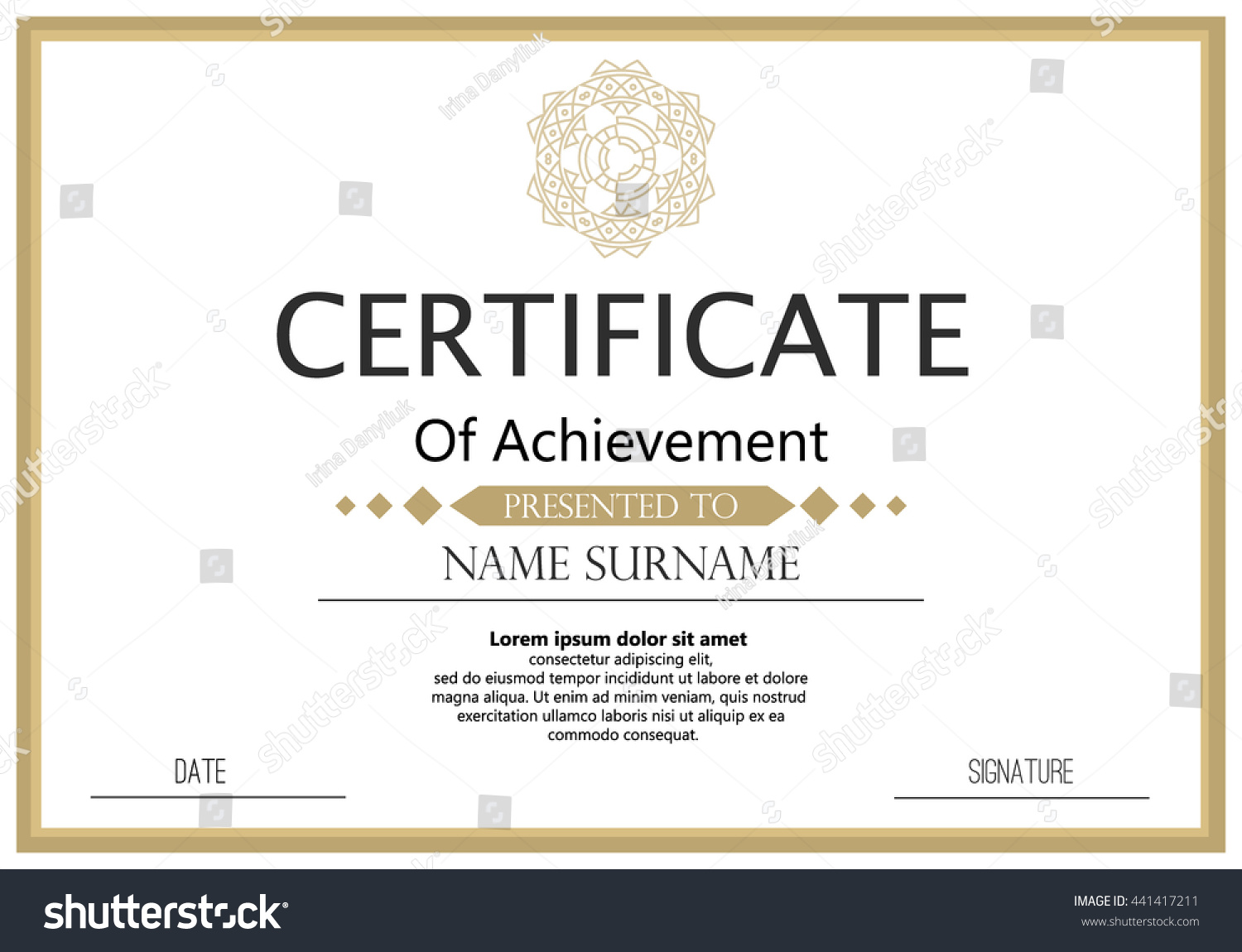 Certificate or diploma template achievement success diploma yelopaper Images