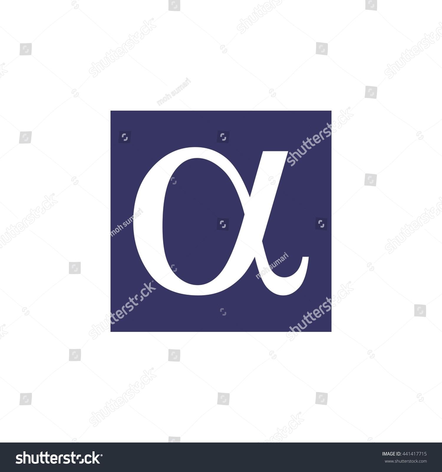 Greek alphabet alpha letter logo stock vector 441417715 shutterstock the greek alphabet alpha letter logo buycottarizona