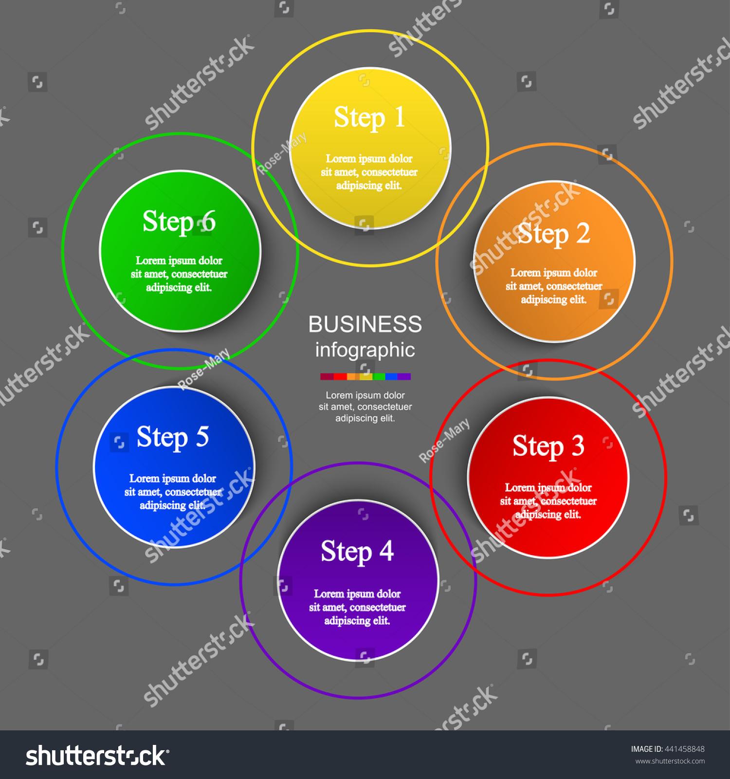 Circle Timeline Template Diagram Graph Presentation Stock Vector ...