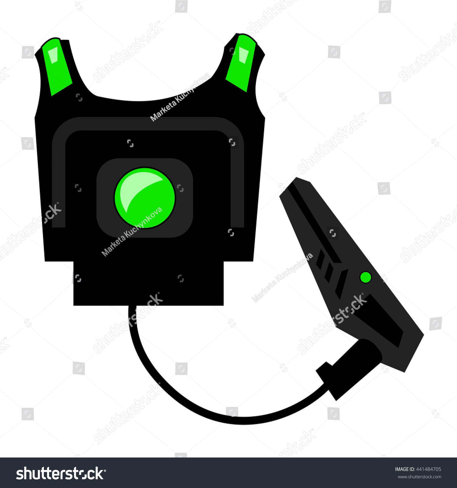 laser game laser tag equipment gun stock vector hd royalty free rh shutterstock com Laser Quest Go Cart Clip Art
