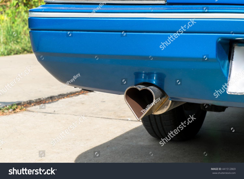 Heart Shape Metal Exhaust Outdoor Stock Photo Edit Now 441512869