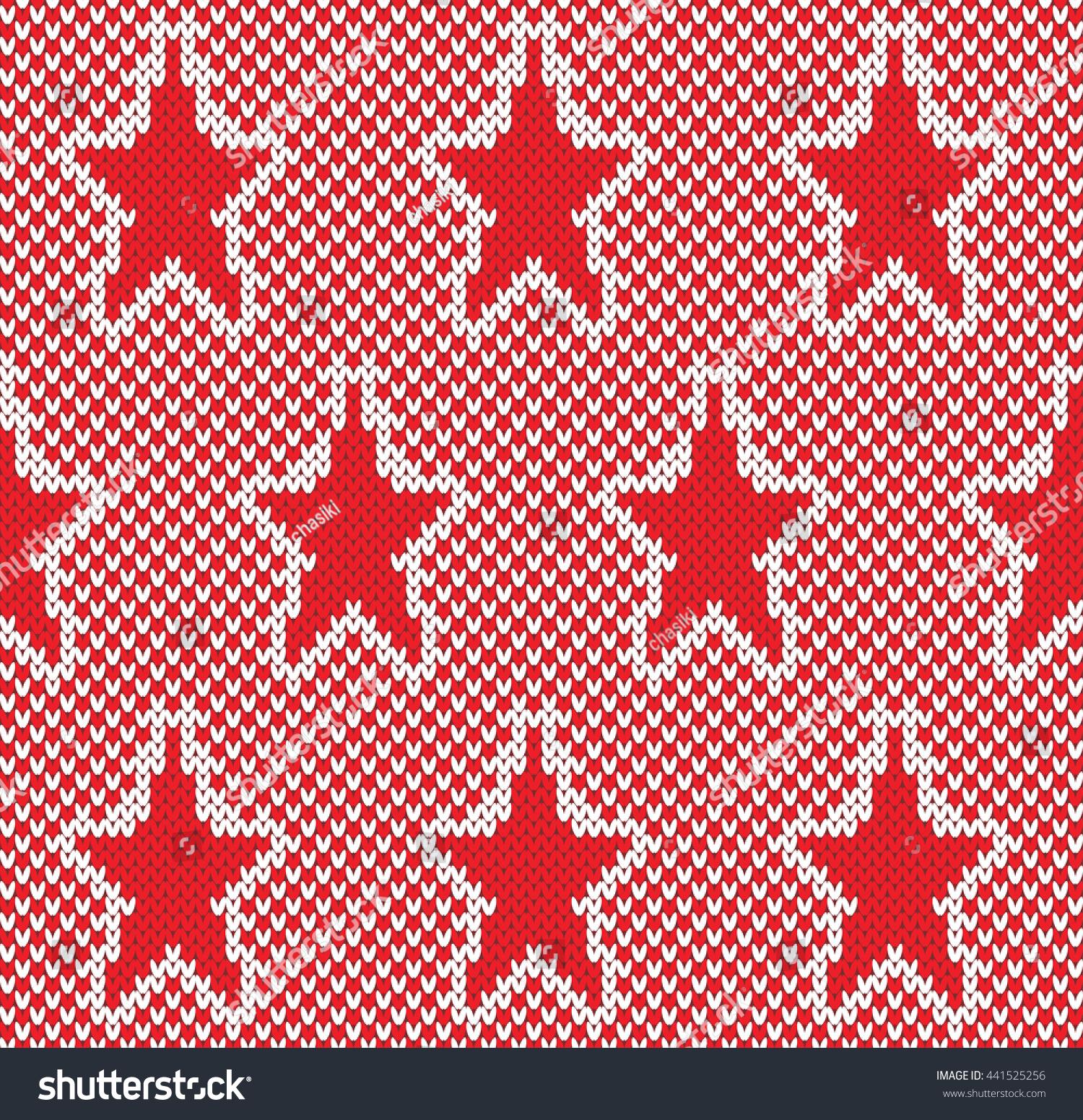Star Fairisle Seamless Knitting Pattern Stock Vector HD (Royalty ...