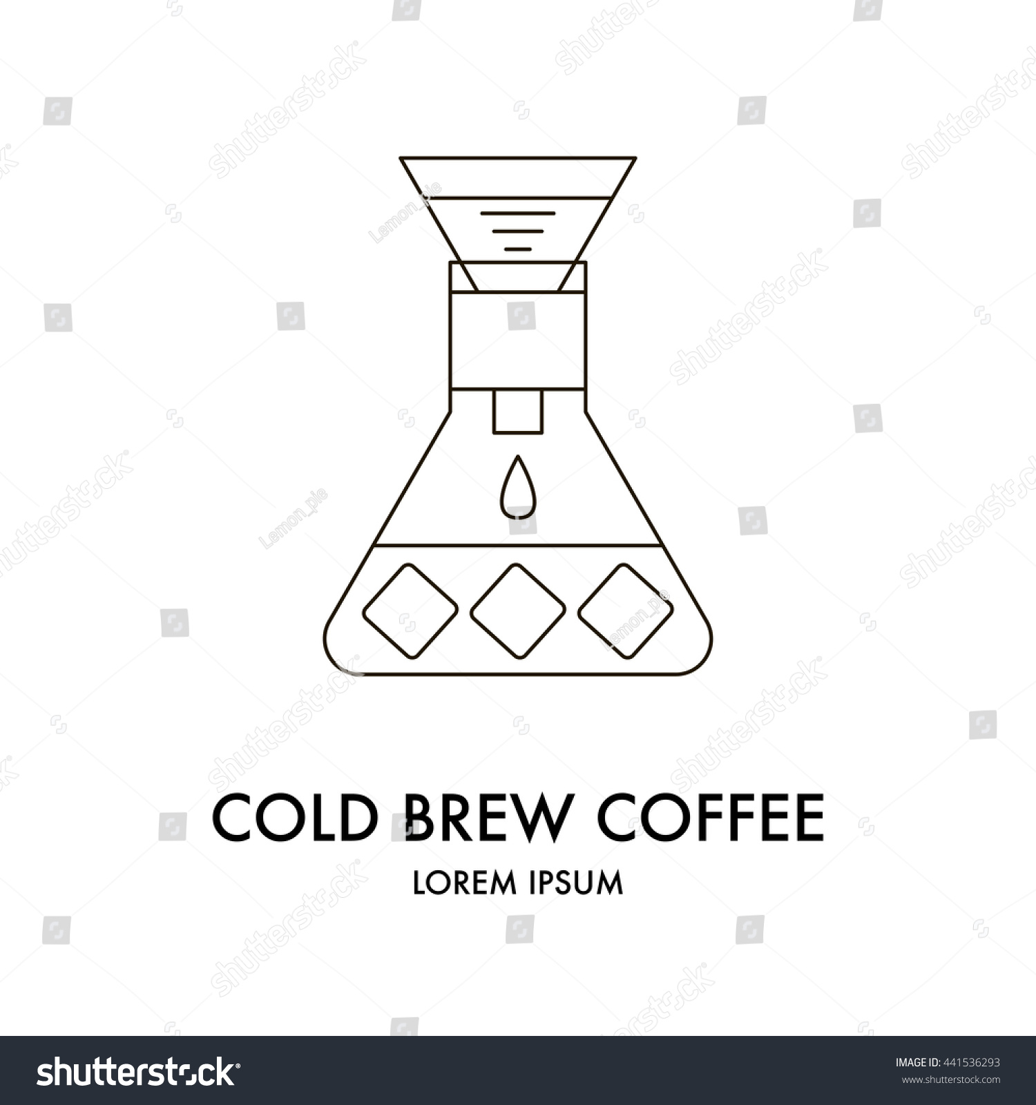 Line Art Logo Maker : Drip brewing filtered pourover cold brew stock vector
