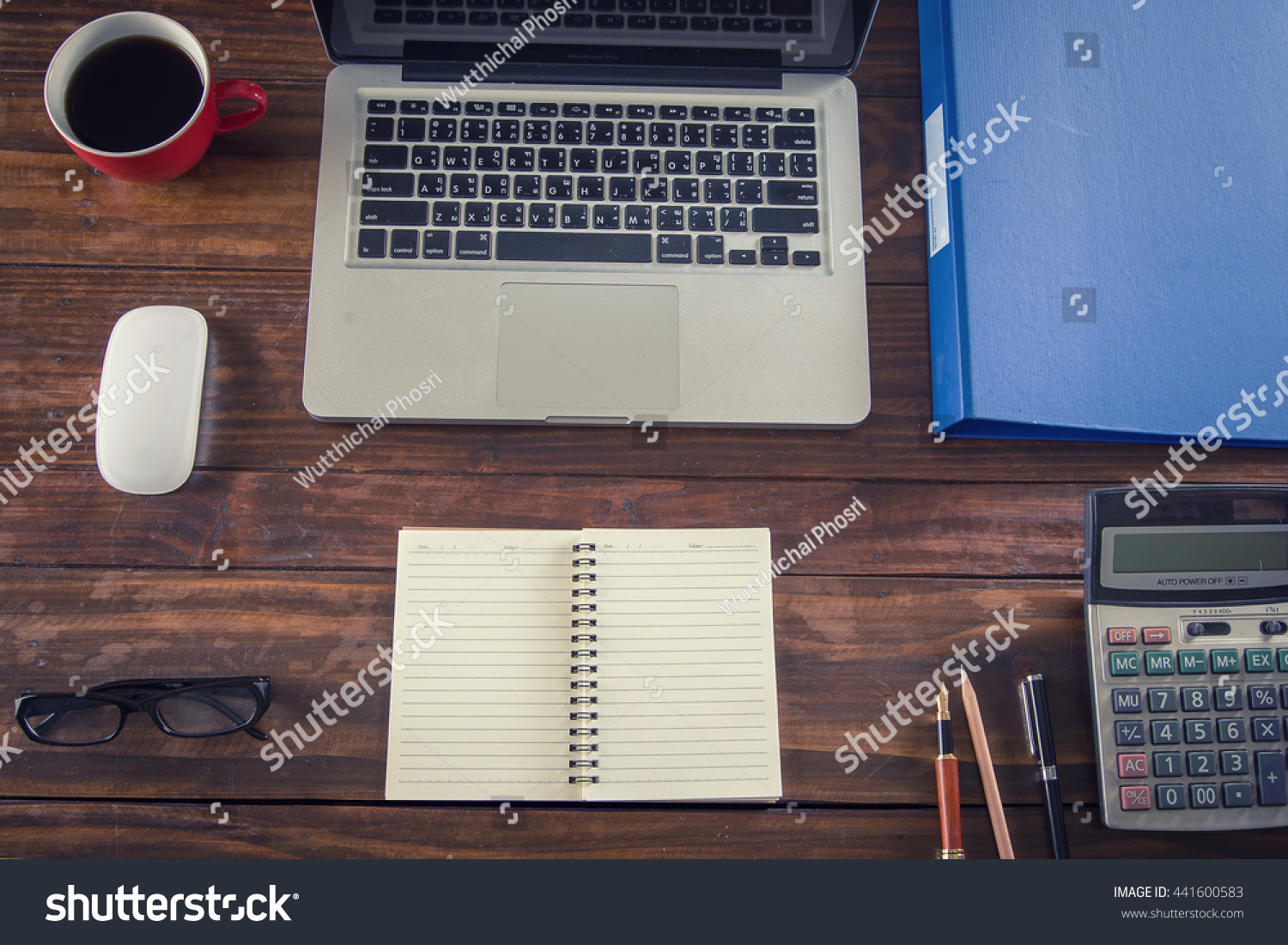 Brilliant Mix Office Supplies Gadgets On Wooden Stock Photo Edit Now Download Free Architecture Designs Scobabritishbridgeorg
