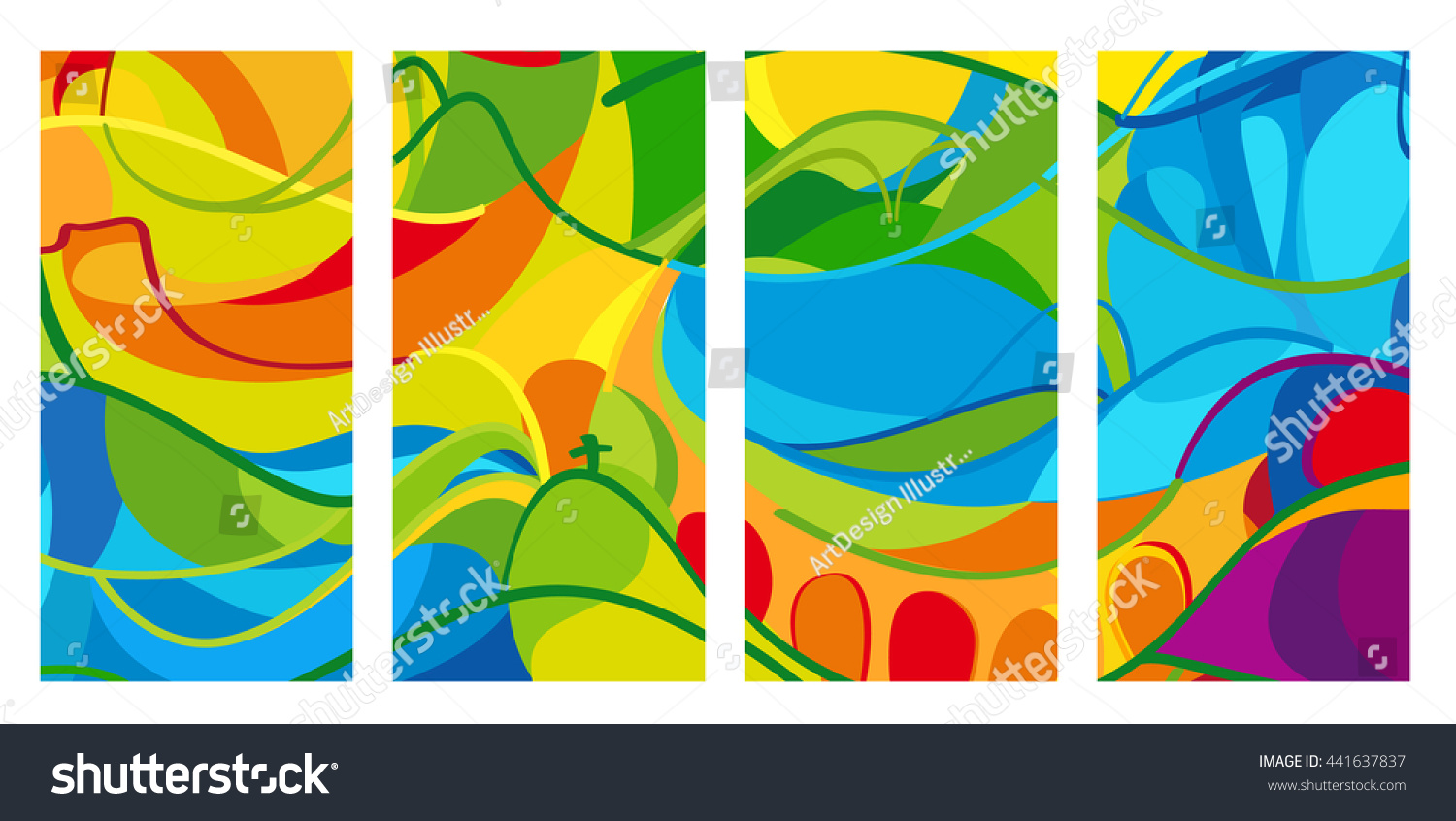 Pattern For Sport Wallpaper: Rio 2016 Set Colorful Abstract Backgrounds Stock Vector