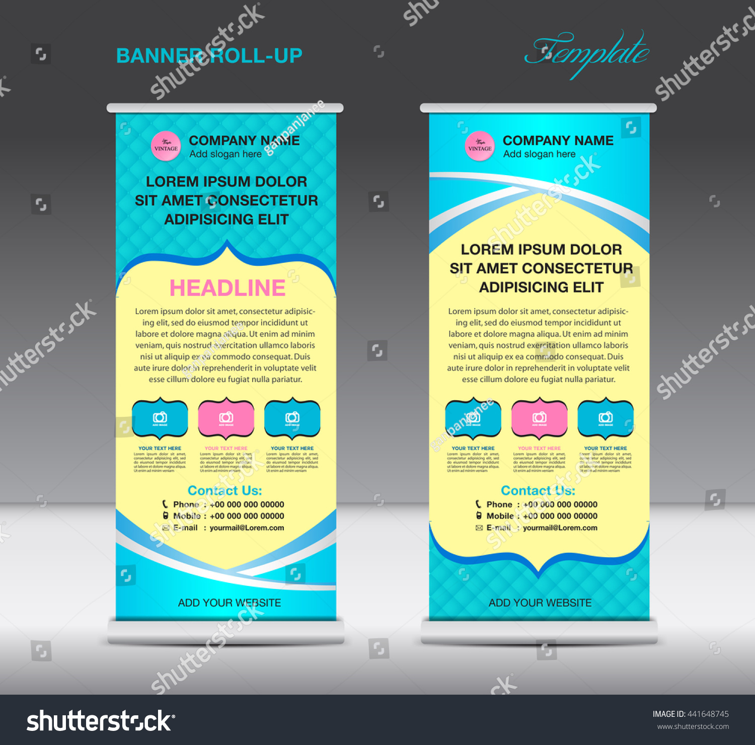 roll up banner stand template vintage design advertisement roll up banner stand template vintage design advertisement display flyer vector